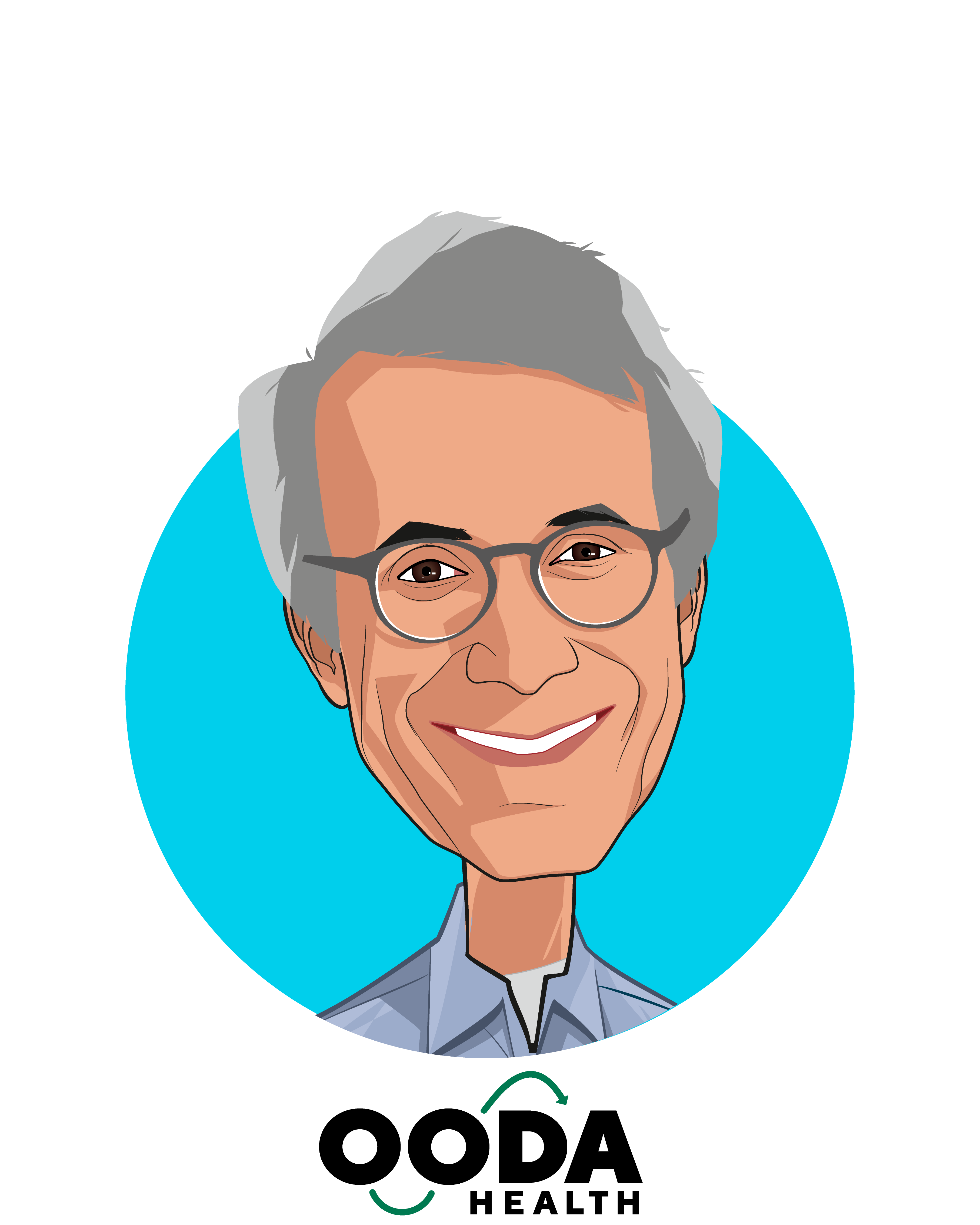 Main caricature of Giovanni Colella, who is speaking at HLTH and is Co-Founder & CEO at OODA Health