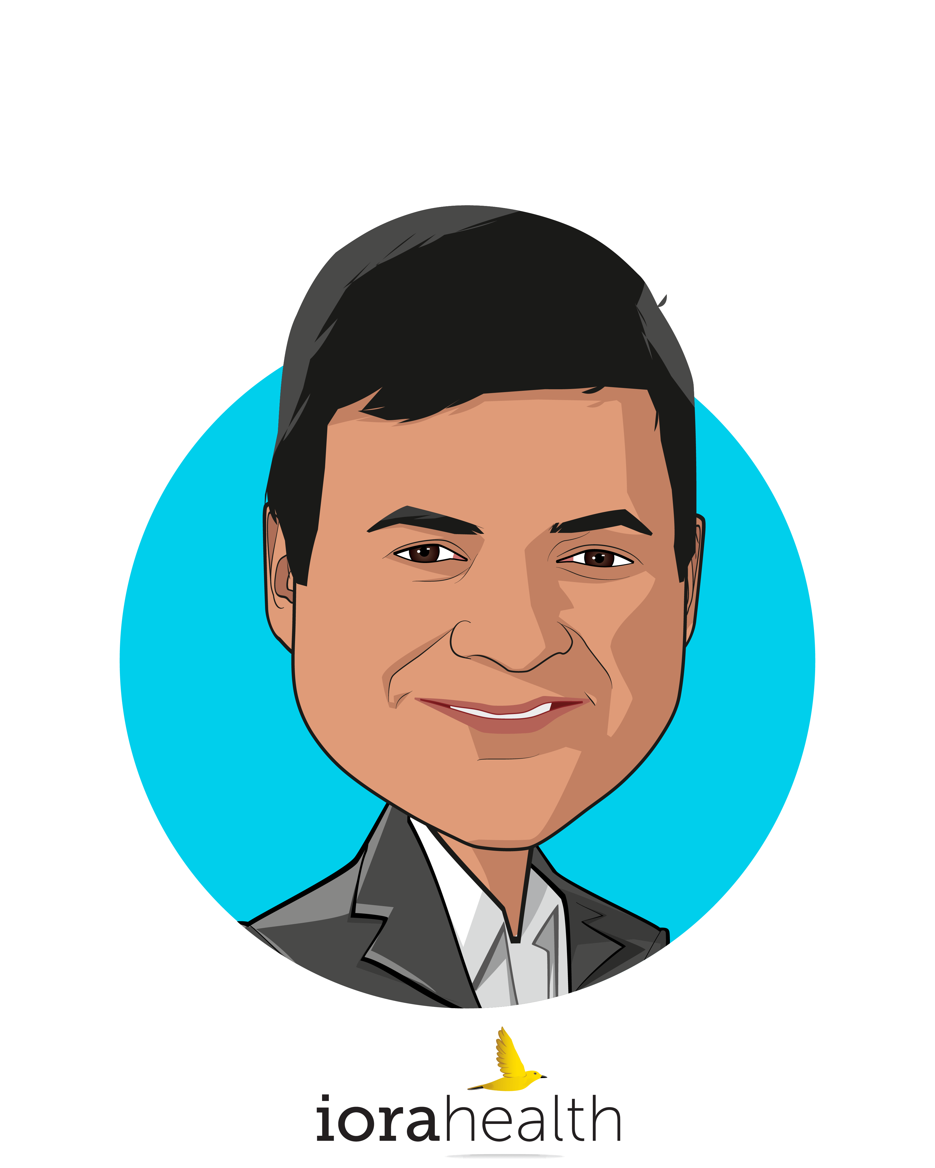 Main caricature of Rushika Fernandopulle, MD, MPP, who is speaking at HLTH and is CEO & Co-Founder at Iora Health