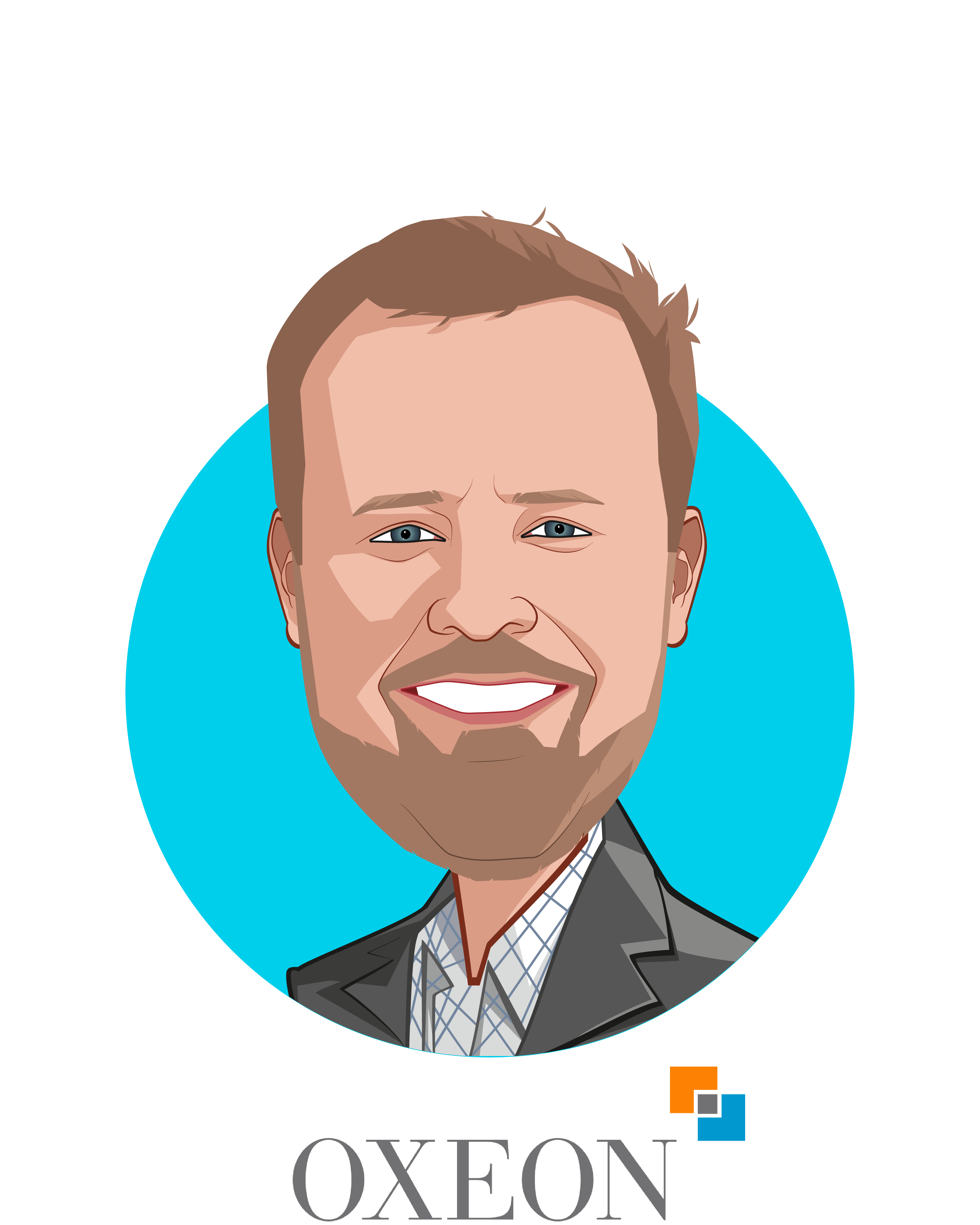 Main caricature of Trevor Price, who is speaking at HLTH and is Founder & CEO at Oxeon Partners