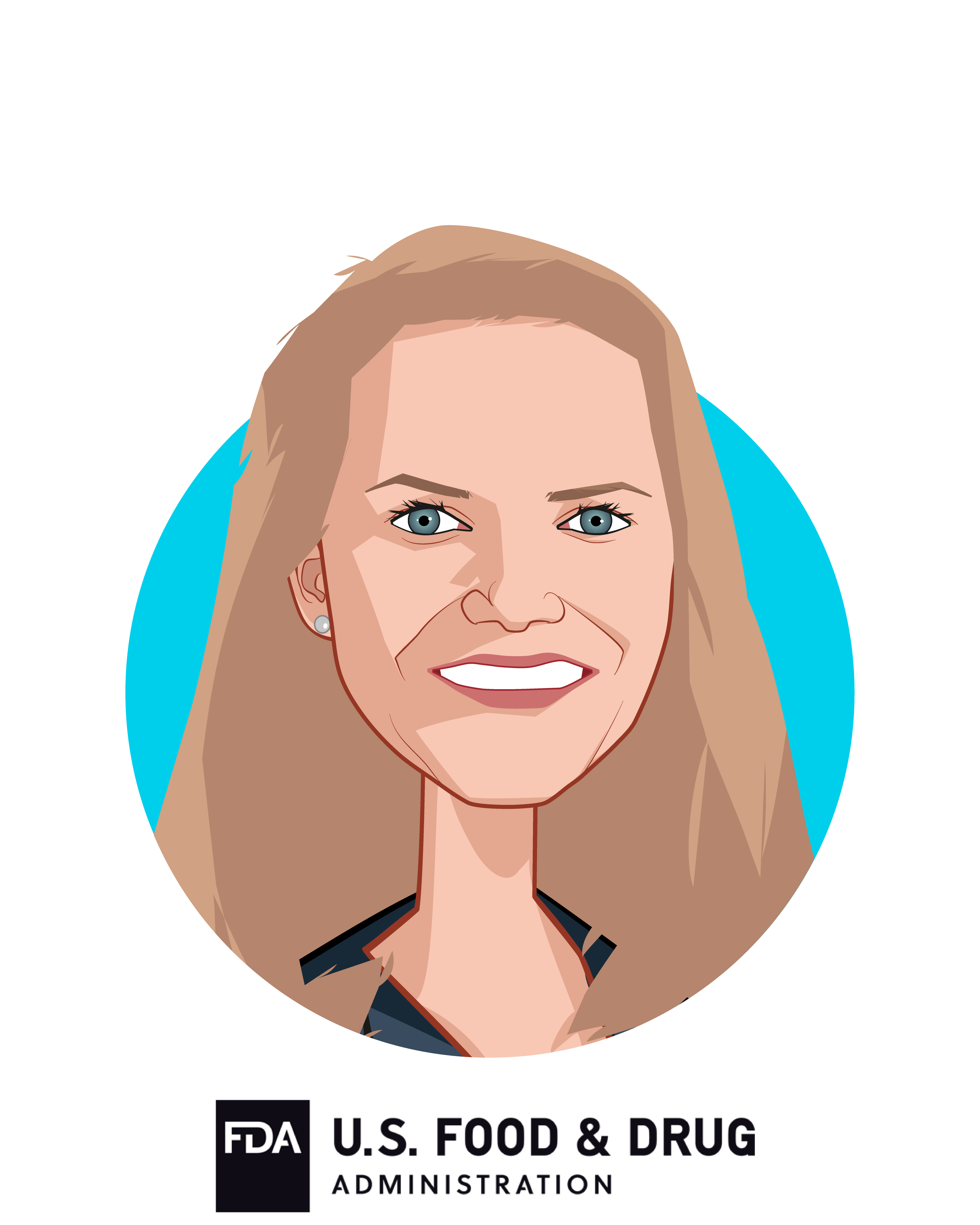 Main caricature of Dr. Amy Abernethy, who is speaking at HLTH and is Principal Deputy Commissioner and Acting CIO at  U.S. Food and Drug Administration