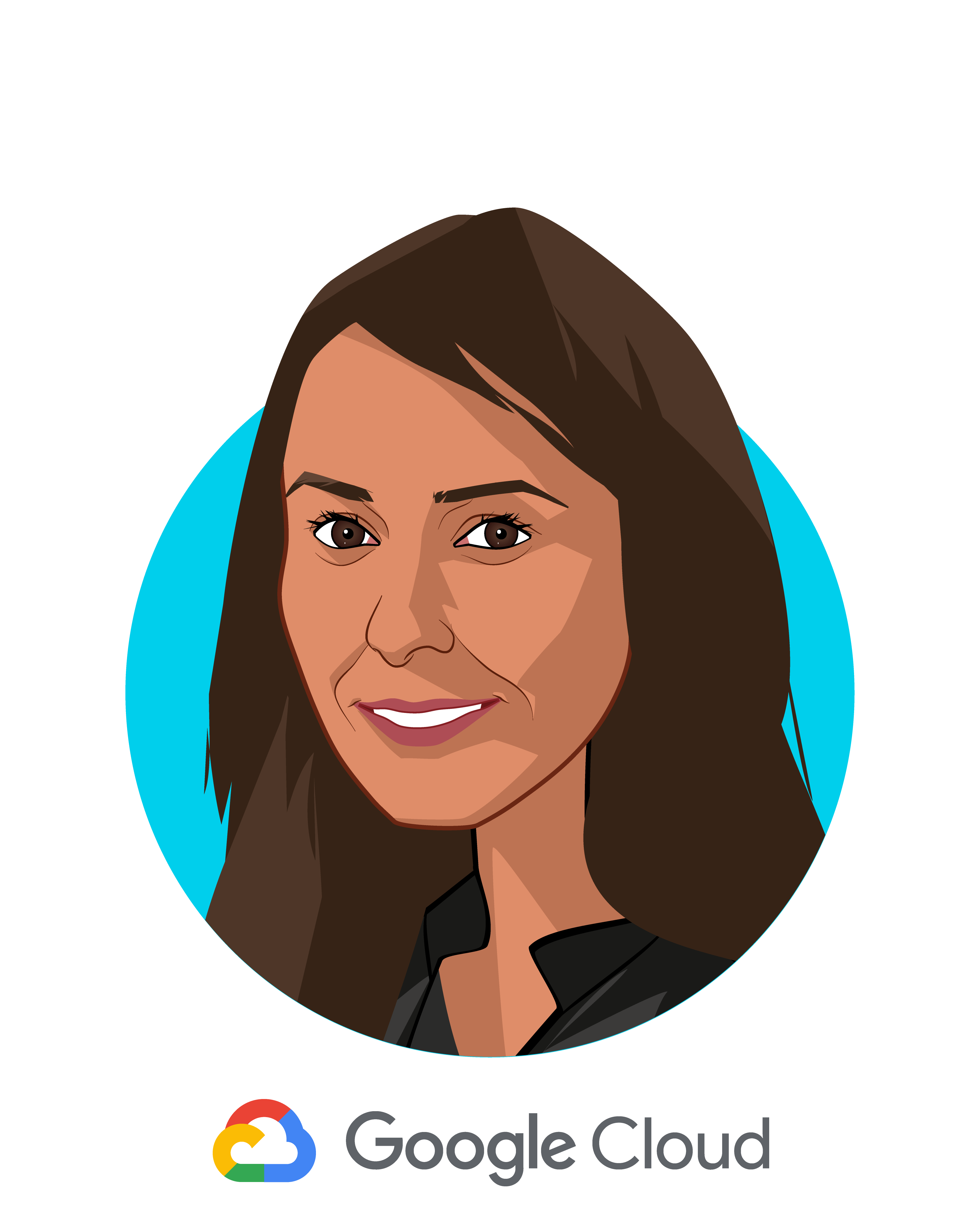 Main caricature of Aashima Gupta, who is speaking at HLTH and is Director, Global Healthcare Solutions at Google Cloud