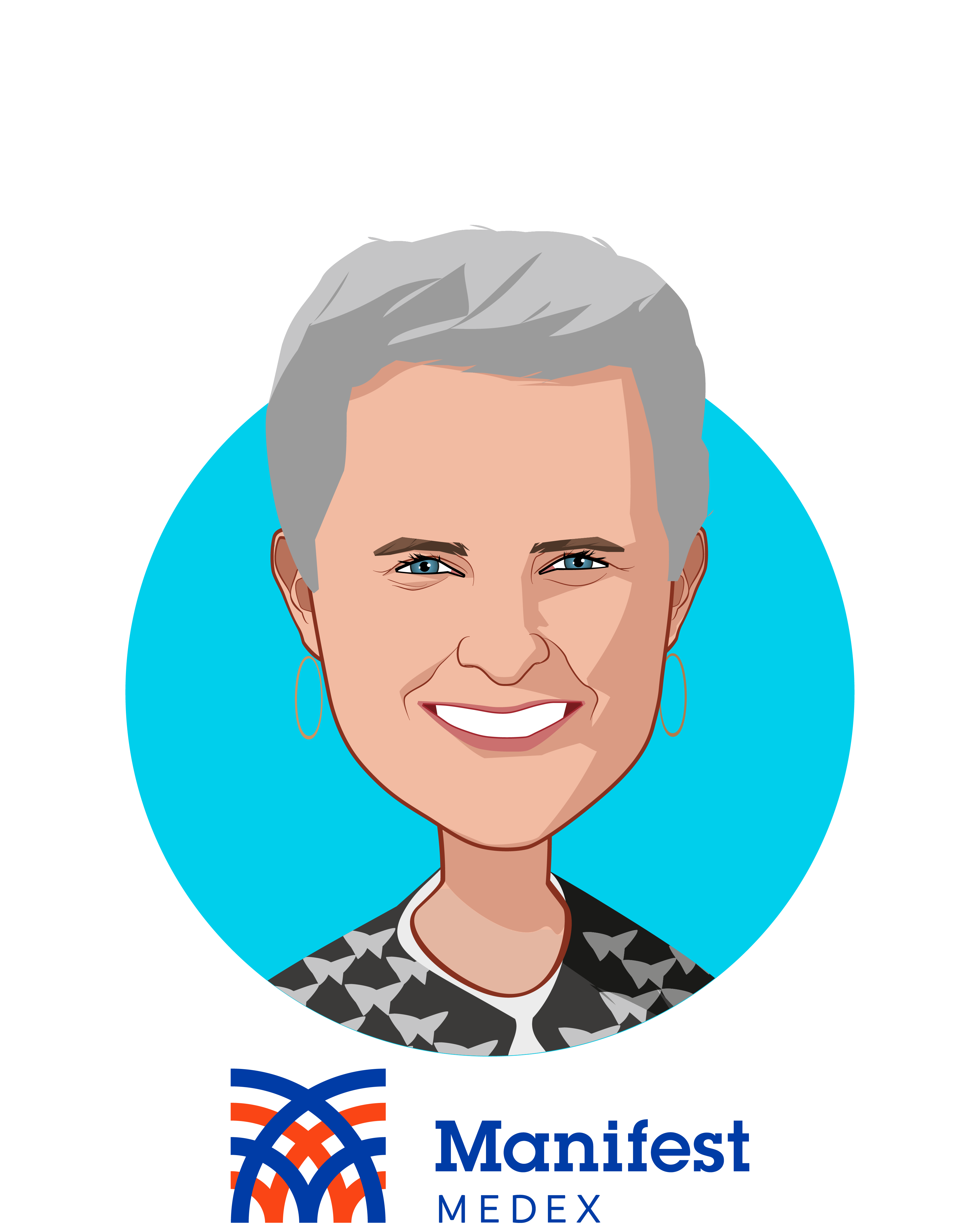 Main caricature of Claudia Williams, who is speaking at HLTH and is CEO at Manifest MedEx