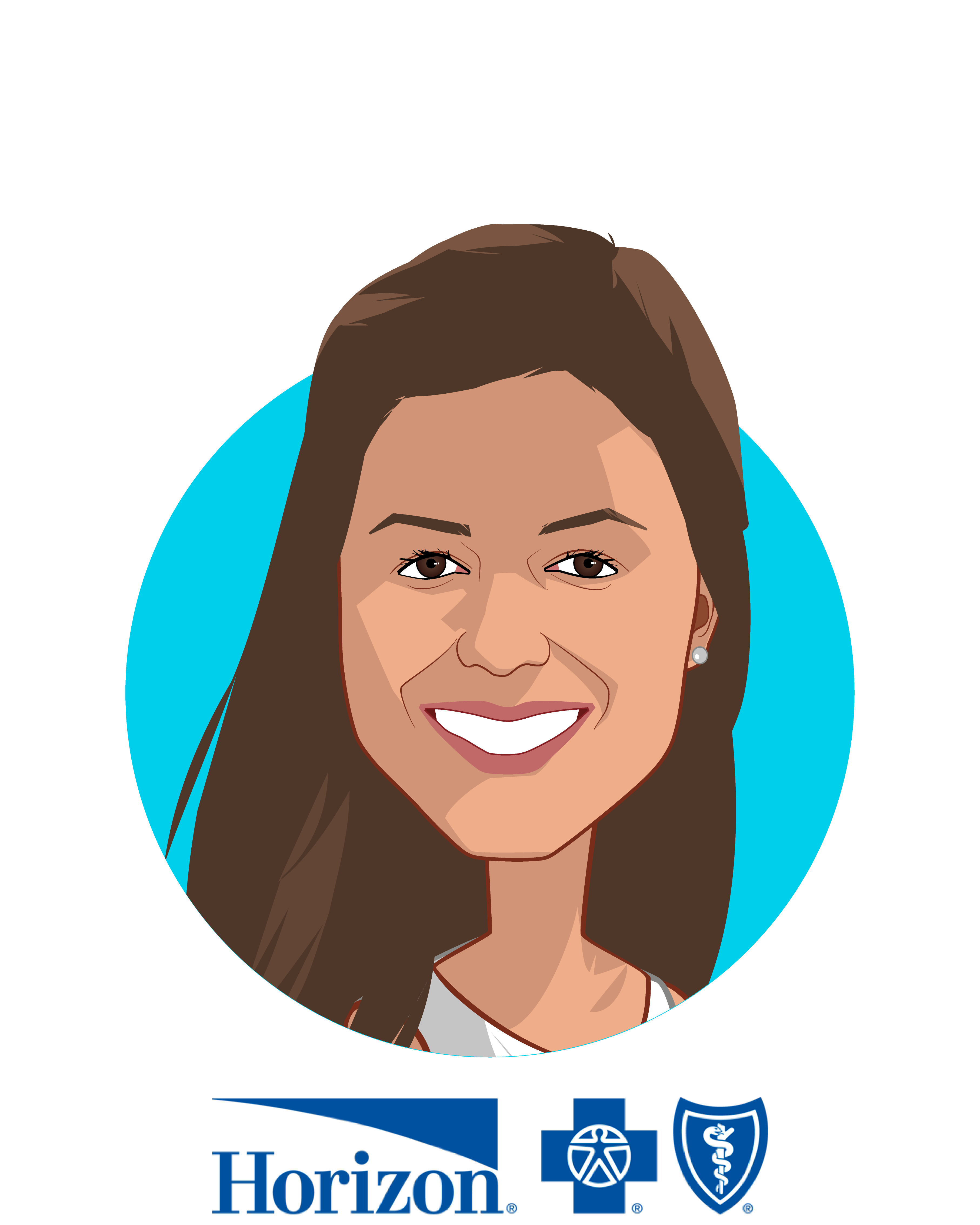 Main caricature of Divya Paliwal, MD, who is speaking at HLTH and is Chief Clinical Transformation Officer at Horizon Blue Cross Blue Shield of New Jersey