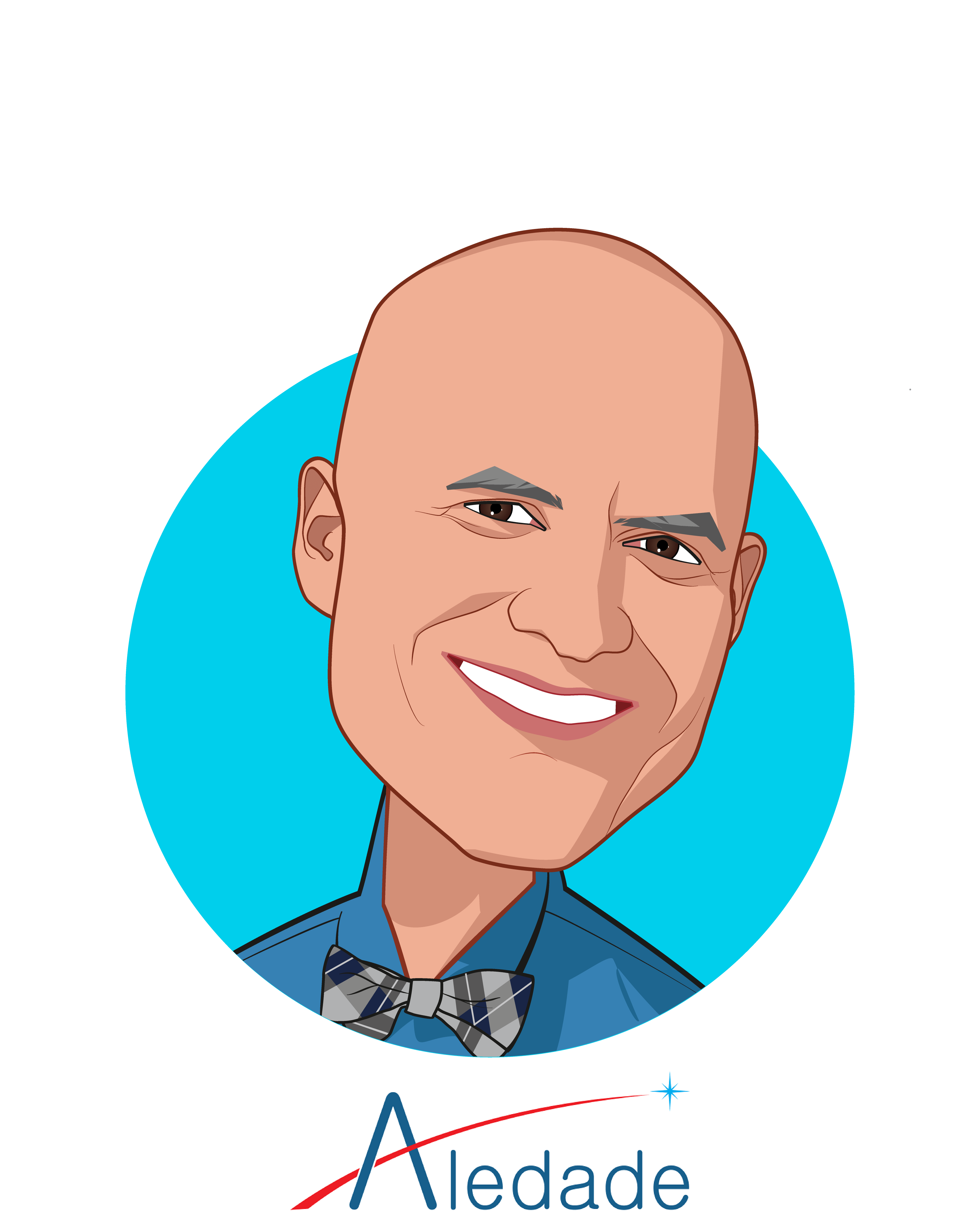 Main caricature of Farzad Mostashari, MD, who is speaking at HLTH and is Founder and CEO at Aledade, Inc.