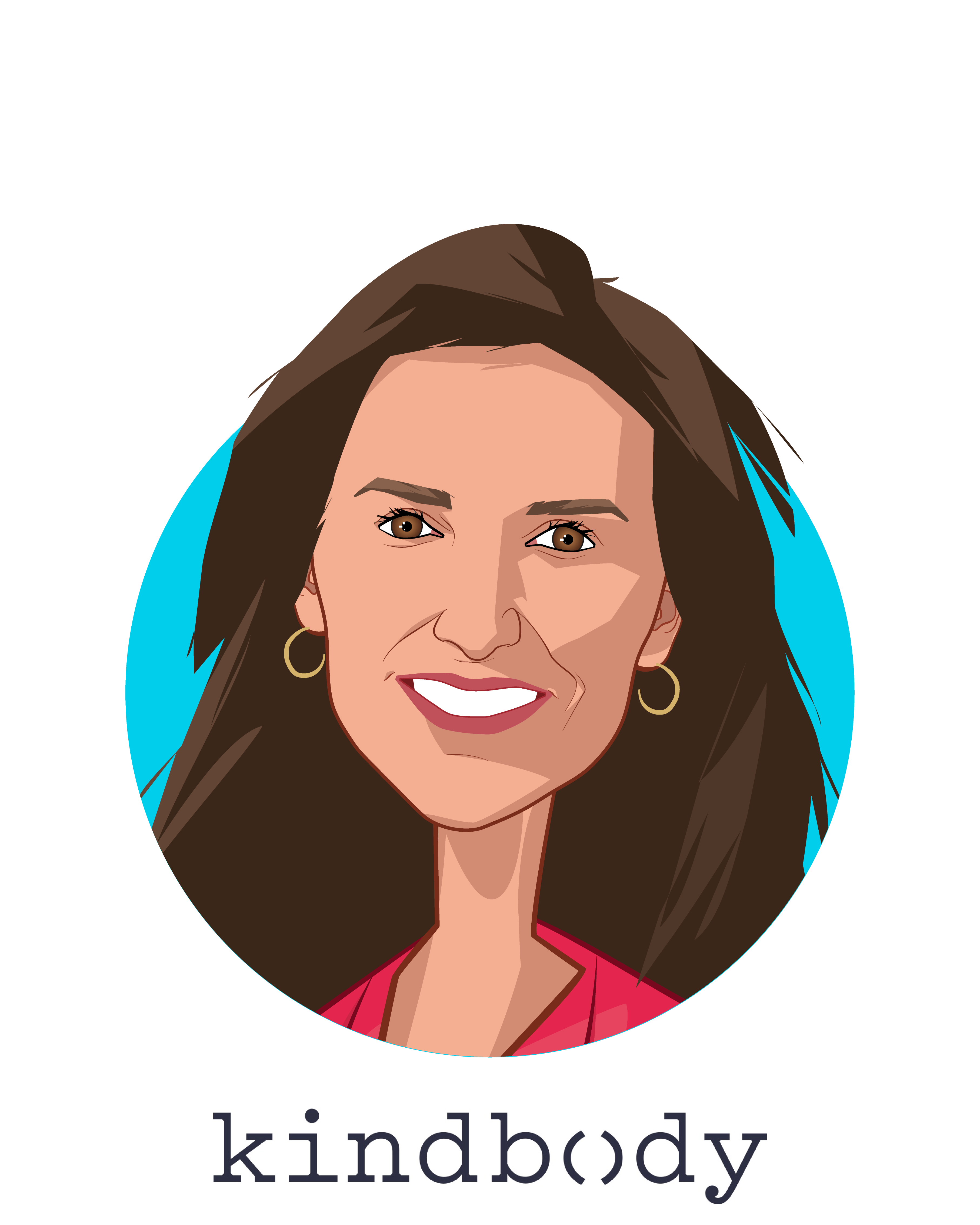 Main caricature of Gina Bartasi, who is speaking at HLTH and is Founder & CEO at Kindbody