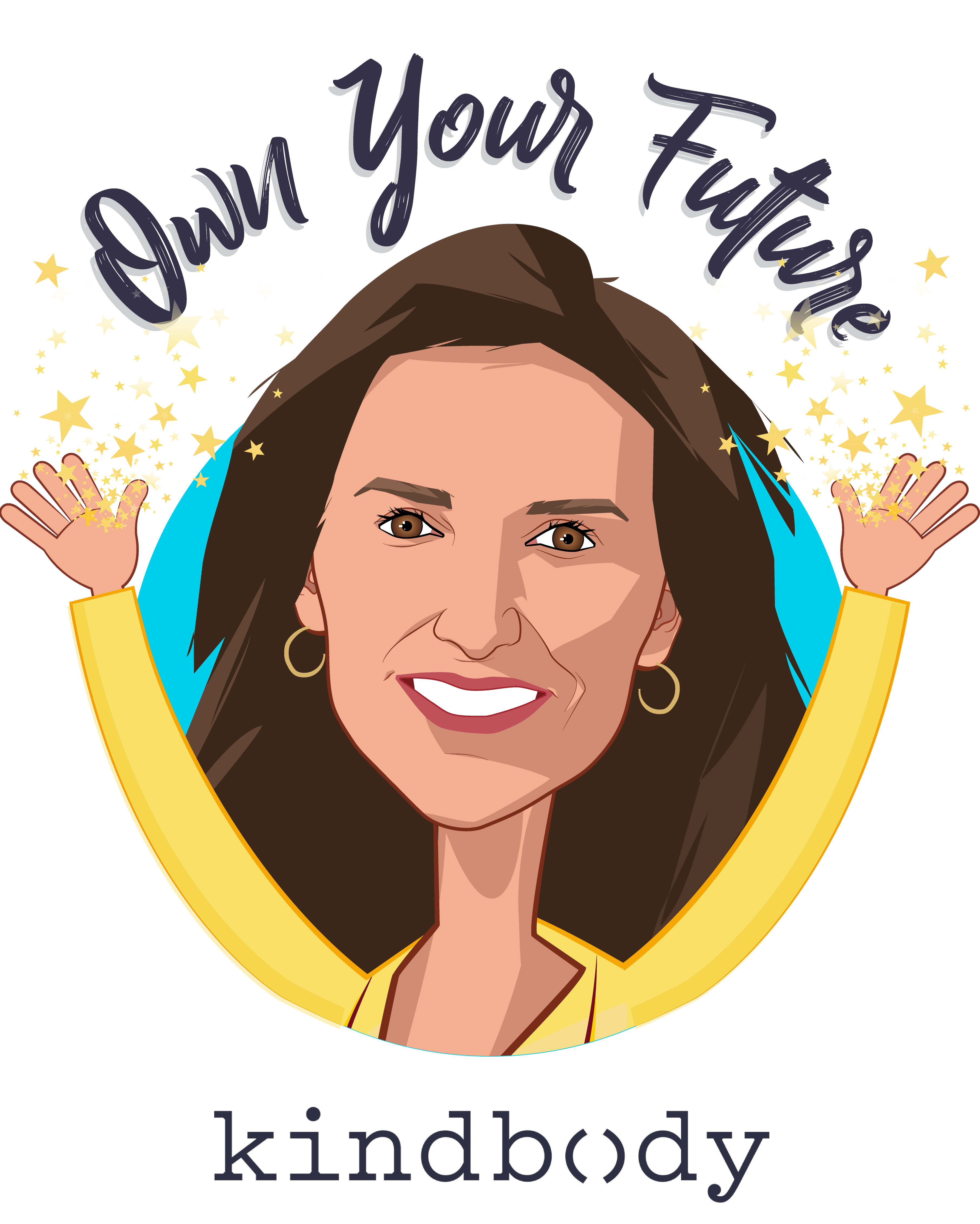 Overlay caricature of Gina Bartasi, who is speaking at HLTH and is Founder & CEO at Kindbody