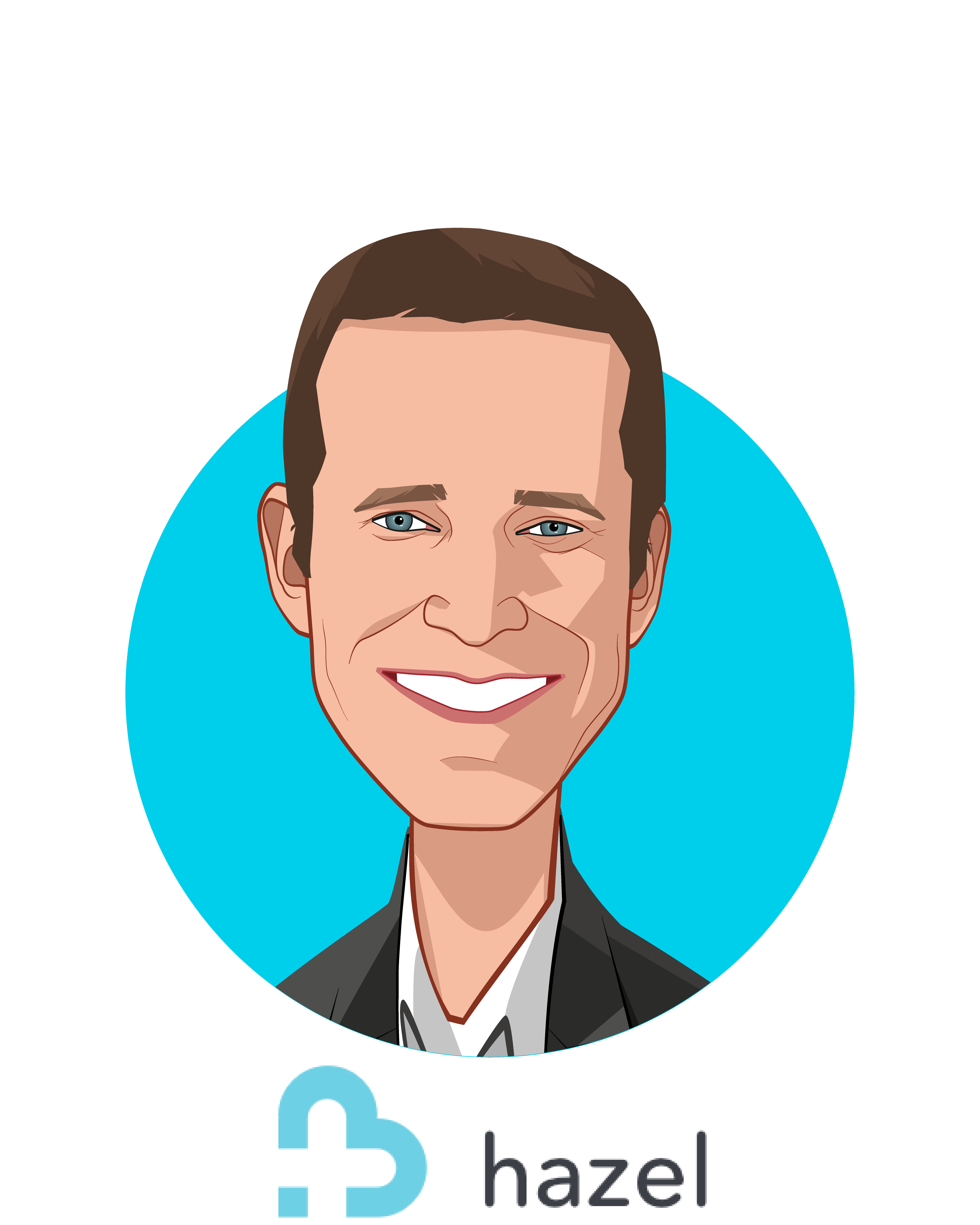 Main caricature of Josh Golomb, who is speaking at HLTH and is Chief Executive Officer at Hazel Health