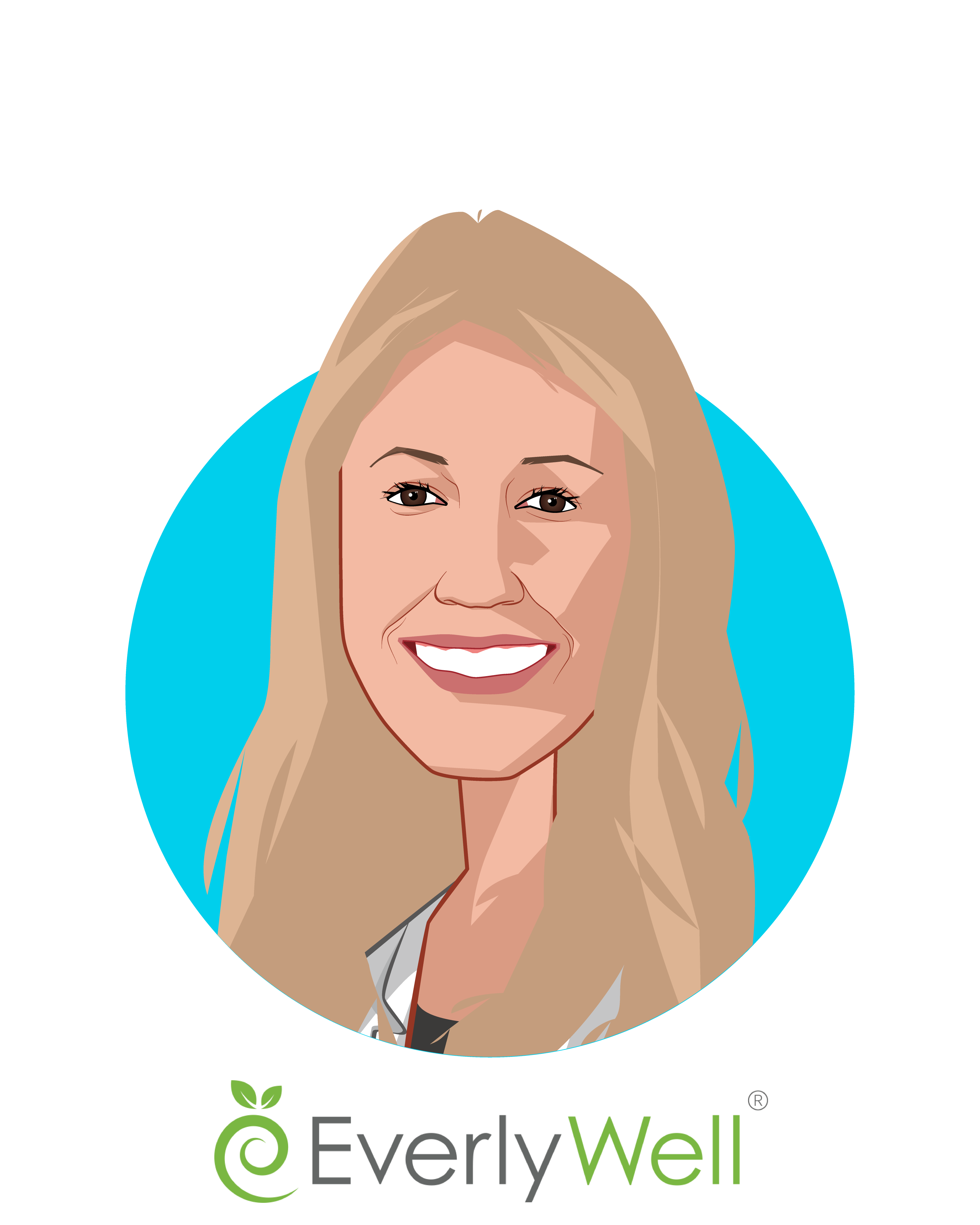 Main caricature of Julia Cheek, who is speaking at HLTH and is CEO & Founder at EverlyWell