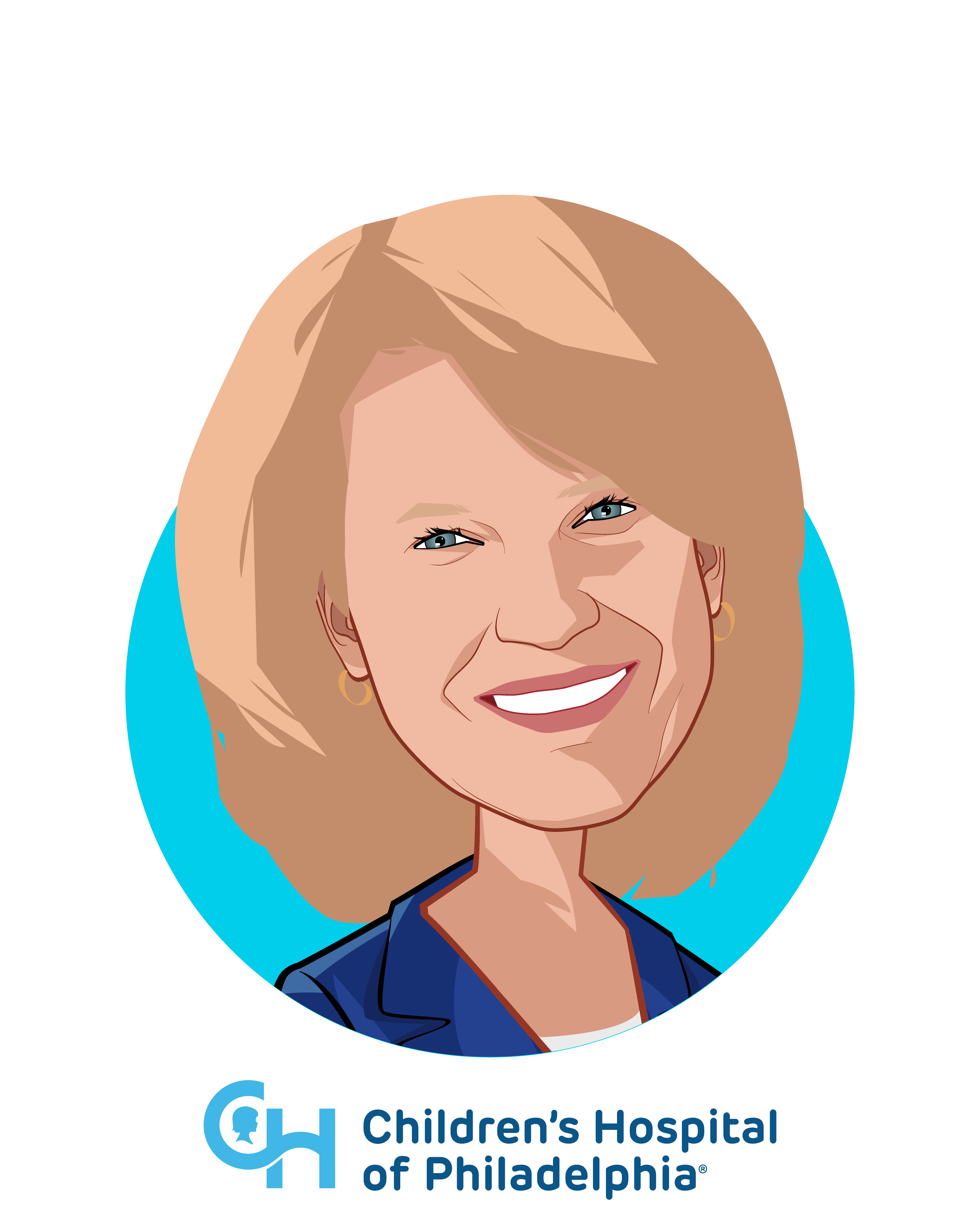 Main caricature of Madeline Bell, who is speaking at HLTH and is President and CEO at Children's Hospital of Philadelphia