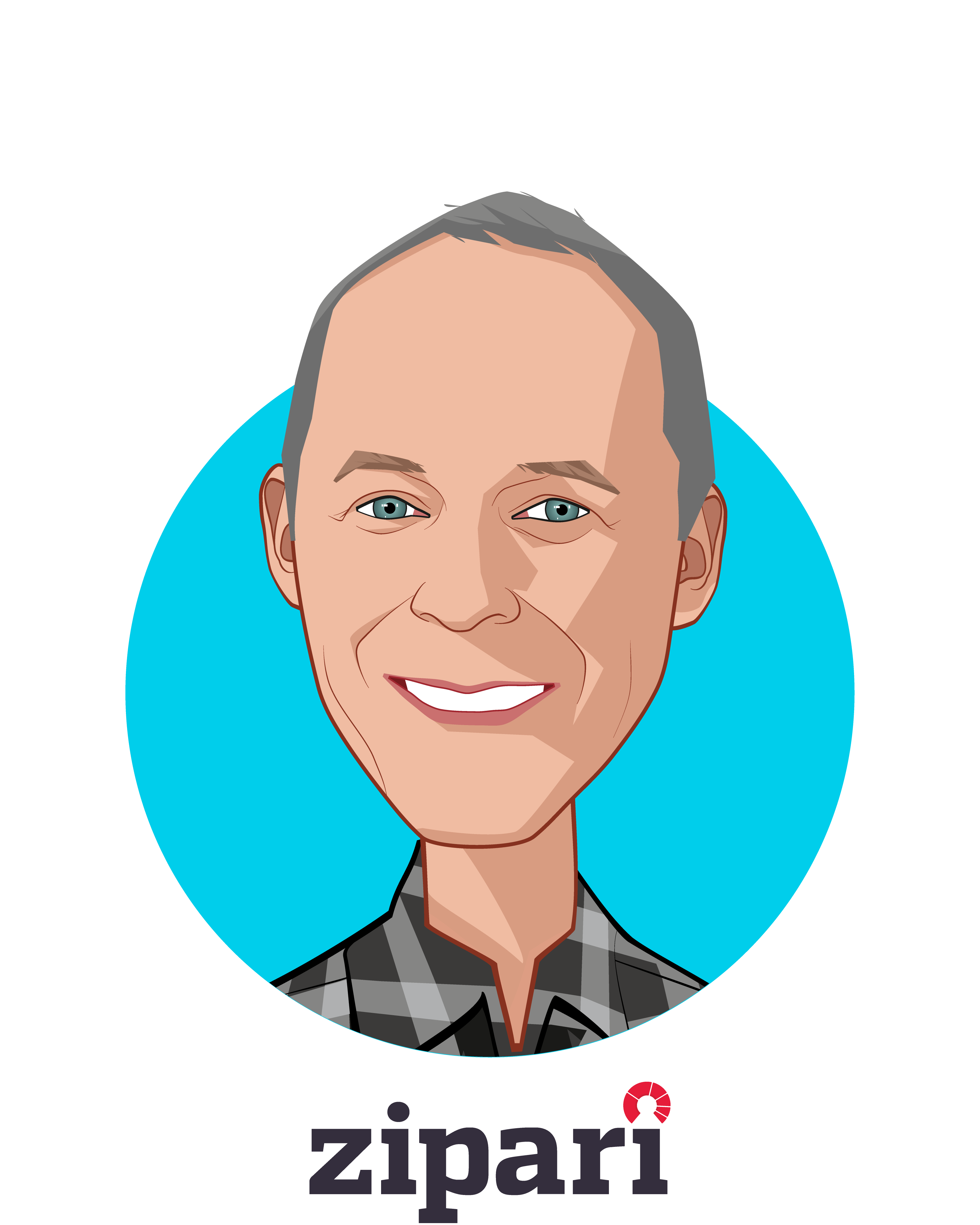 Main caricature of Mark Nathan, who is speaking at HLTH and is CEO and Founder at Zipari