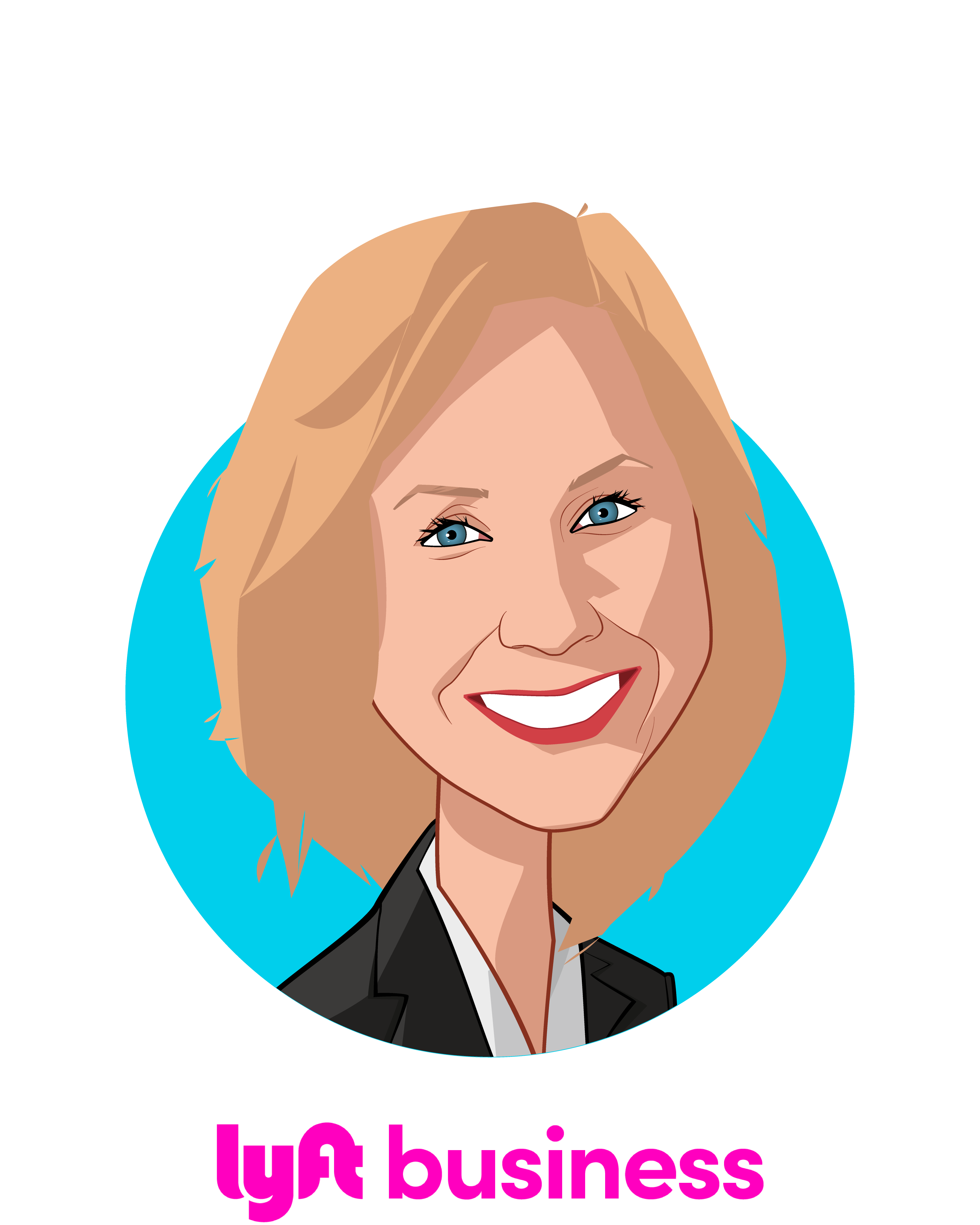 Main caricature of Megan Callahan, who is speaking at HLTH and is VP, Healthcare at Lyft Business