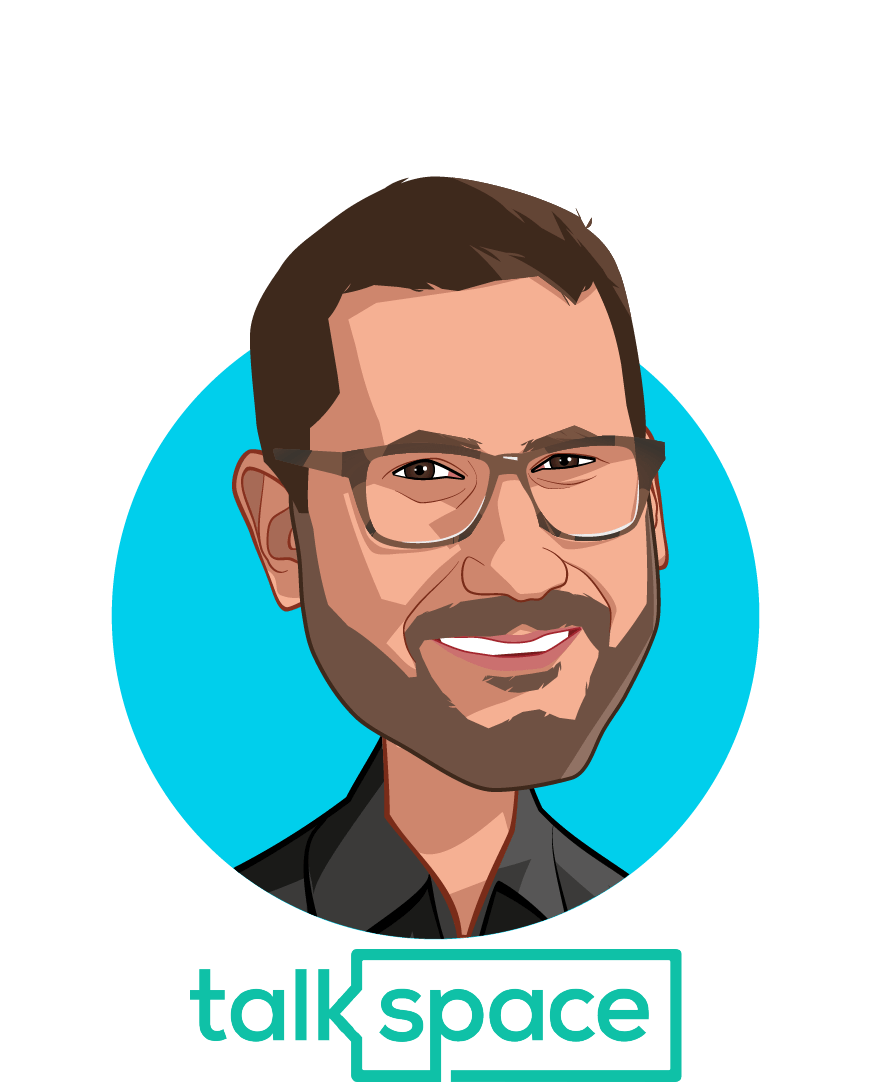 Main caricature of Oren Frank, who is speaking at HLTH and is Co-Founder and CEO at Talkspace