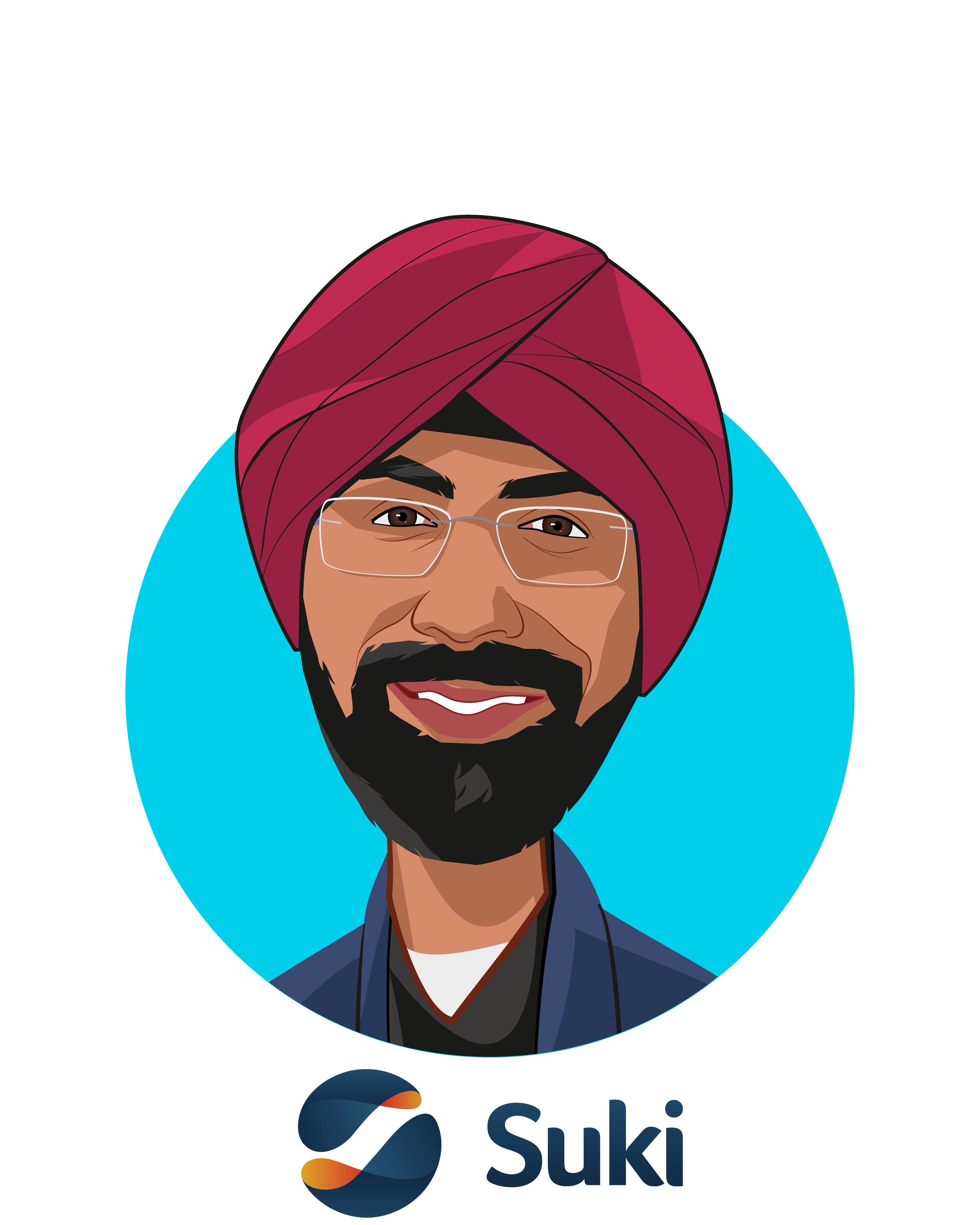Main caricature of Punit Soni, who is speaking at HLTH and is Co-Founder & CEO at Suki