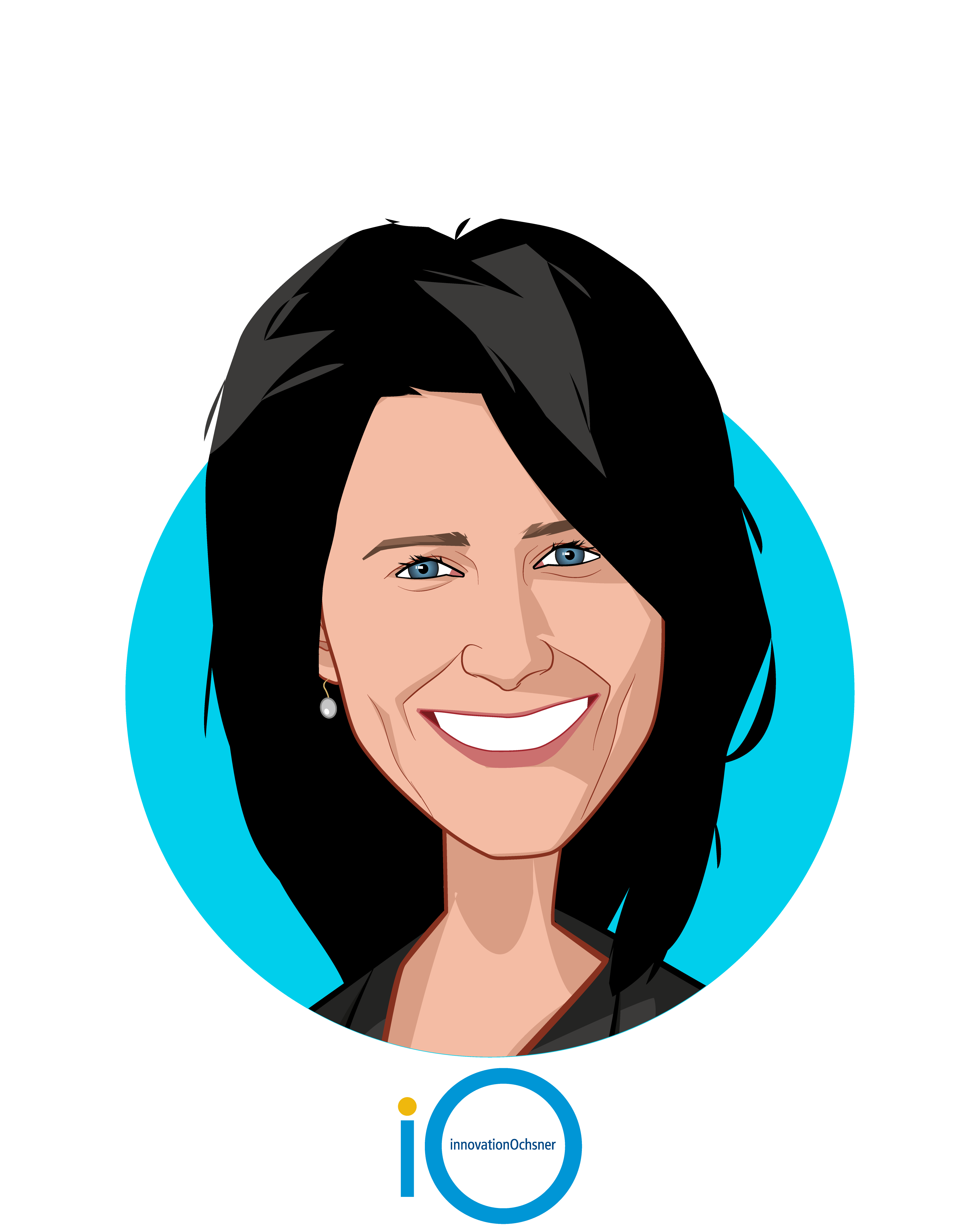 Main caricature of Aimee Quirk, who is speaking at HLTH and is CEO at innovationOchsner