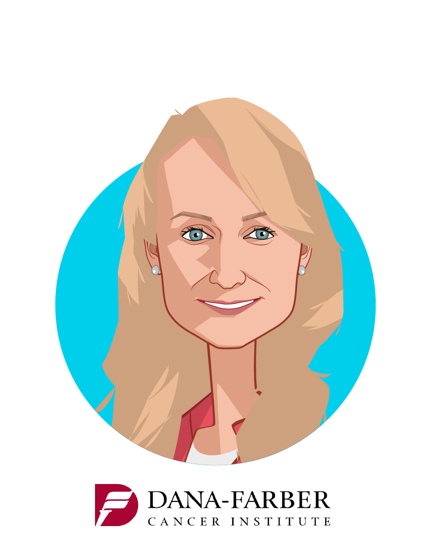 Main caricature of Luba Greenwood, who is speaking at HLTH and is Senior Adviser to the CEO  at Dana-Farber Cancer Institute