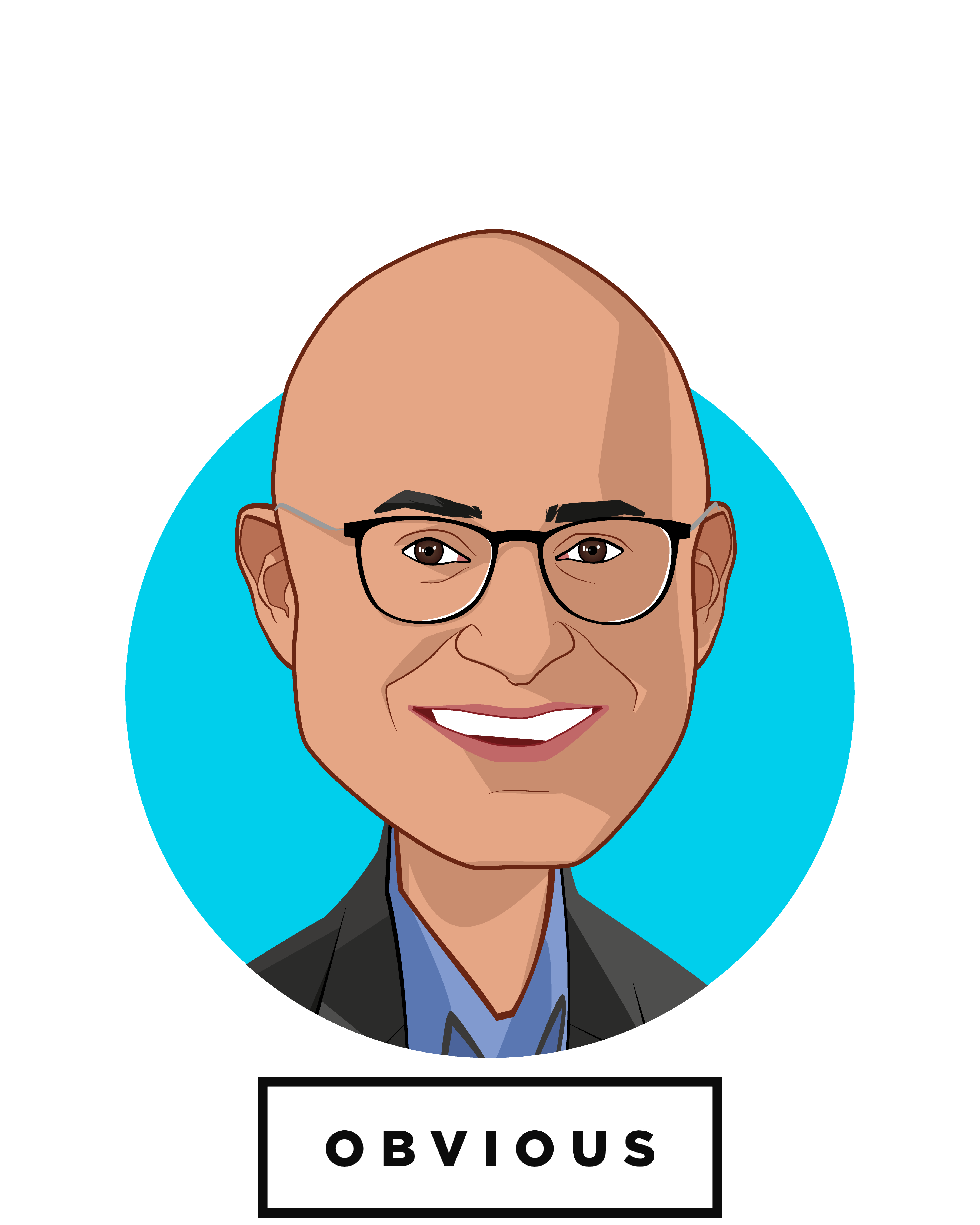 Main caricature of Vishal Vasishth, who is speaking at HLTH and is Co-Founder & Managing Director at Obvious Ventures