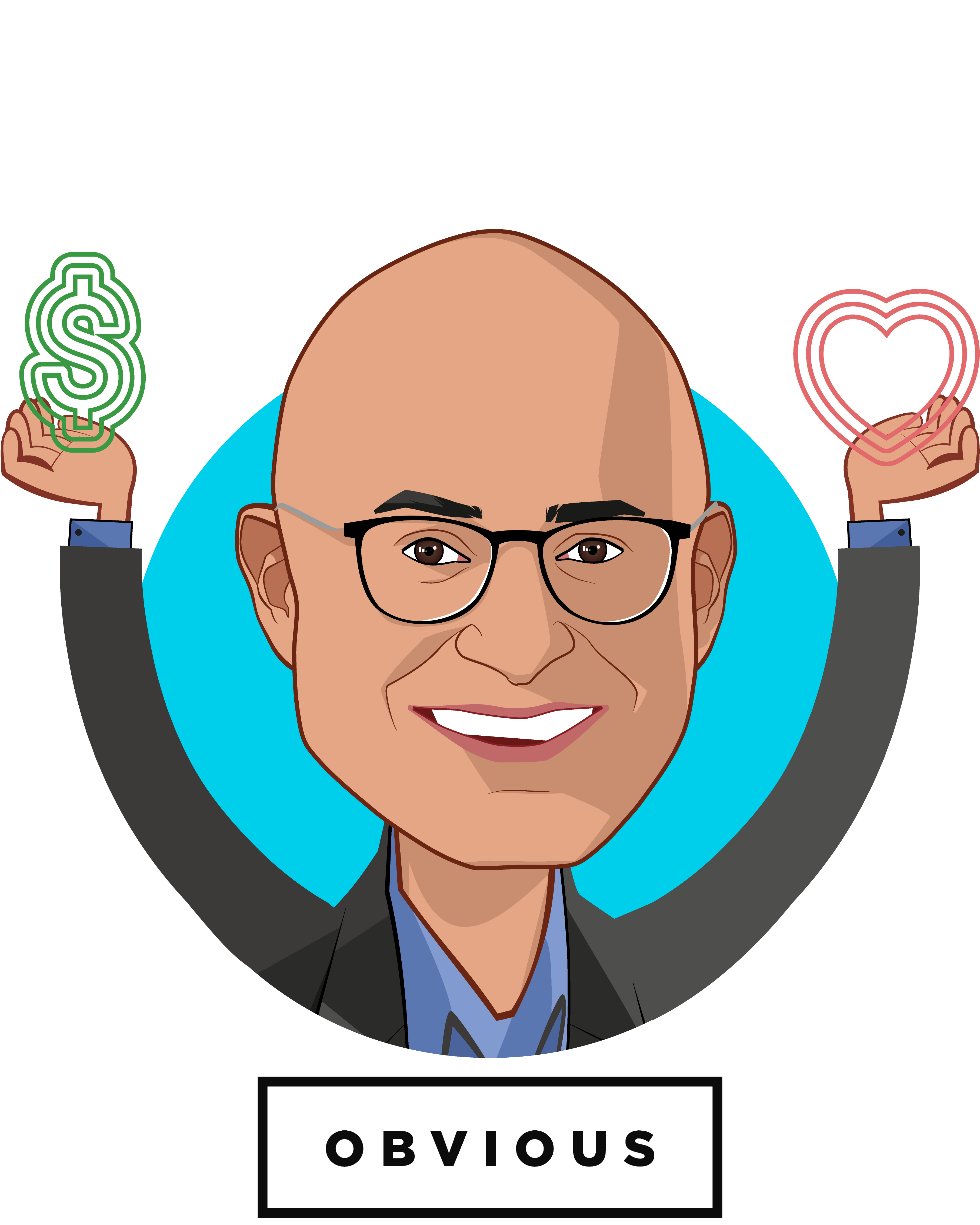 Overlay caricature of Vishal Vasishth, who is speaking at HLTH and is Co-Founder & Managing Director at Obvious Ventures
