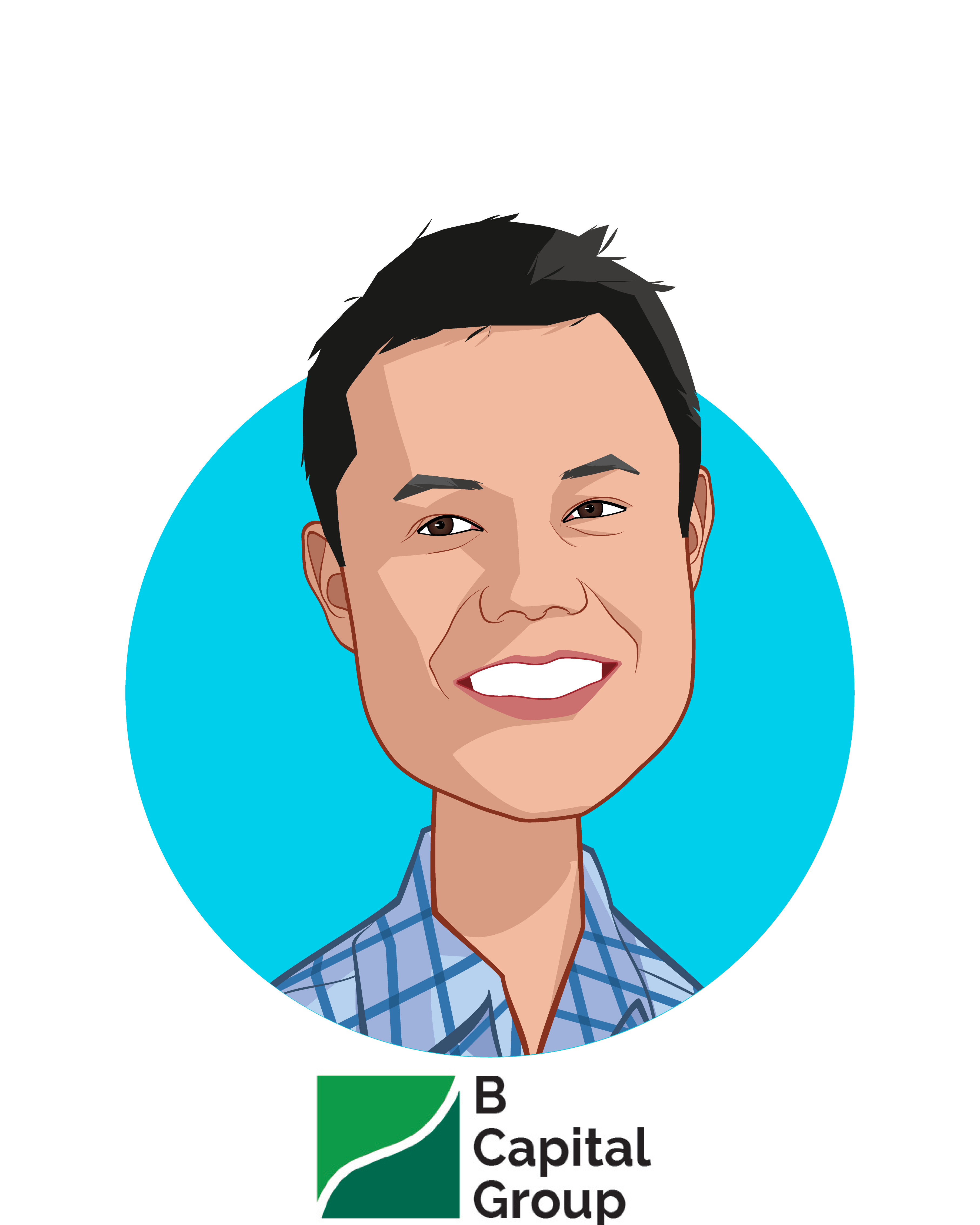 Main caricature of Gavin Teo, who is speaking at HLTH and is General Partner at B Capital Group