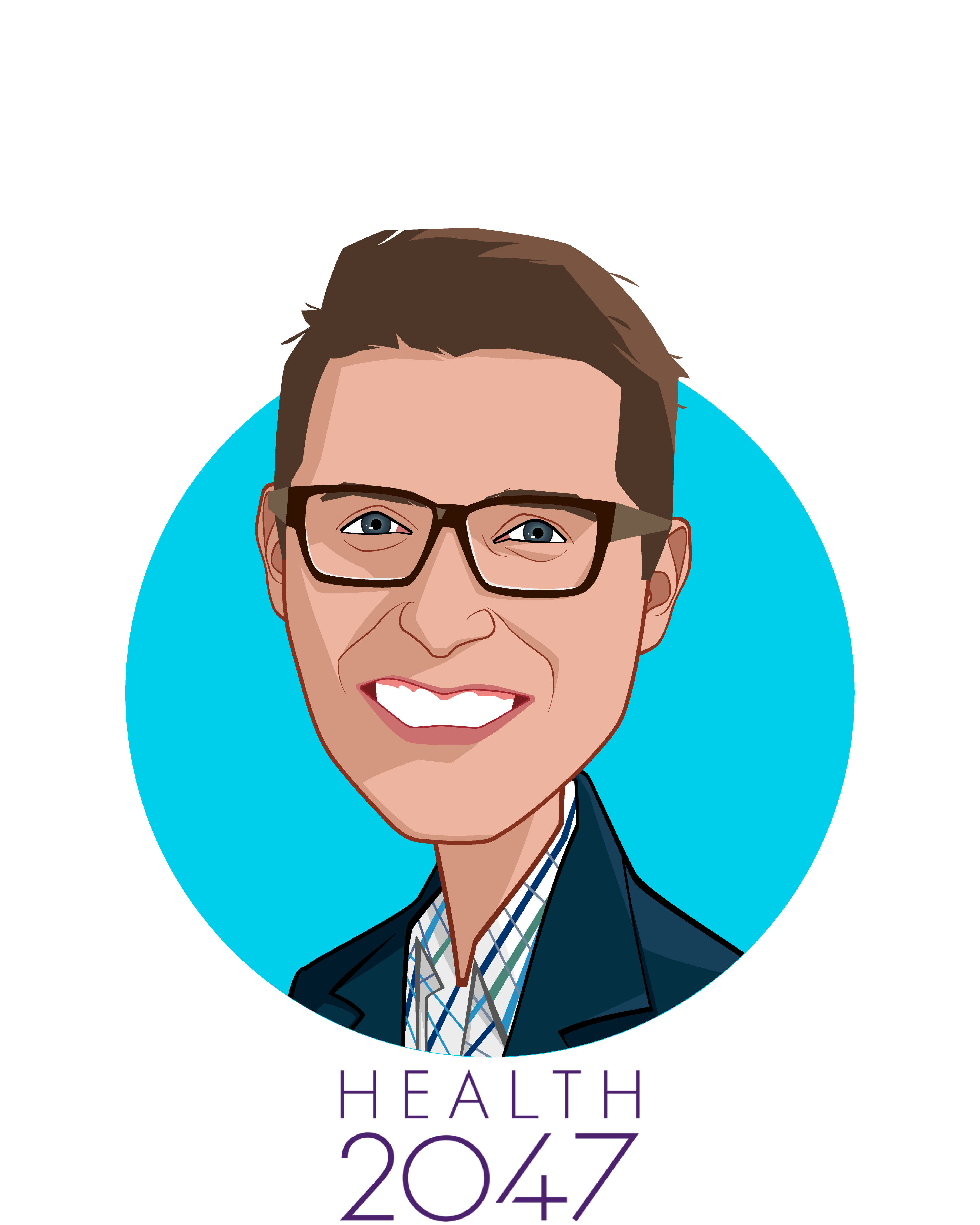 Main caricature of Jack Stockert, who is speaking at HLTH and is Managing Director at Health2047 Inc.