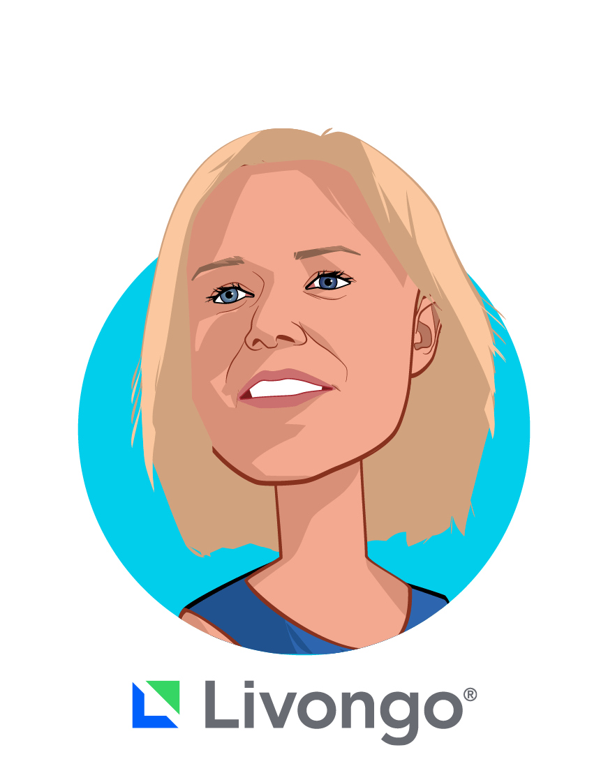 Main caricature of Jennifer Schneider, M.D., M.S., who is speaking at HLTH and is President at Livongo