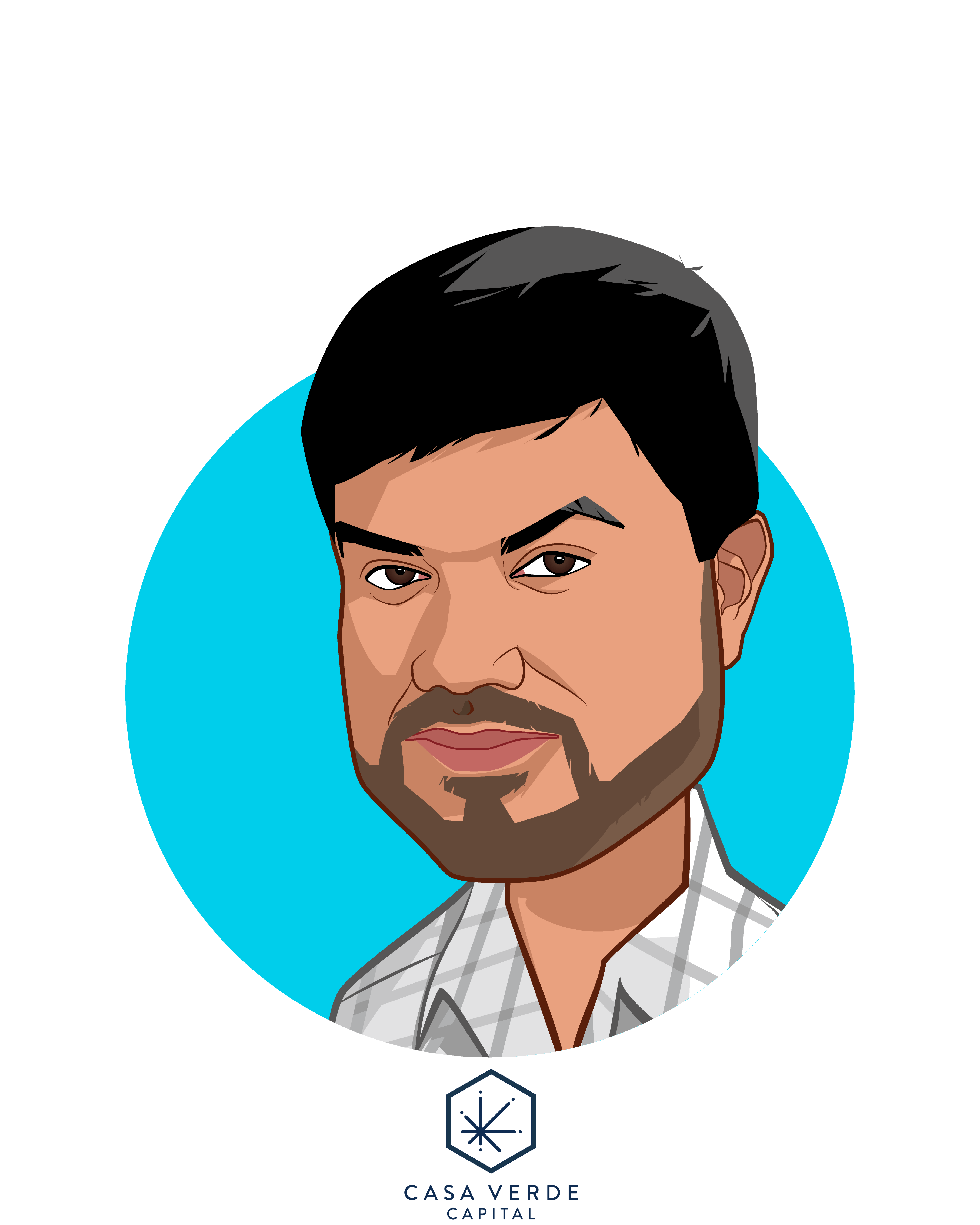 Main caricature of Karan Wadhera, who is speaking at HLTH and is Managing Partner at Casa Verde Capital