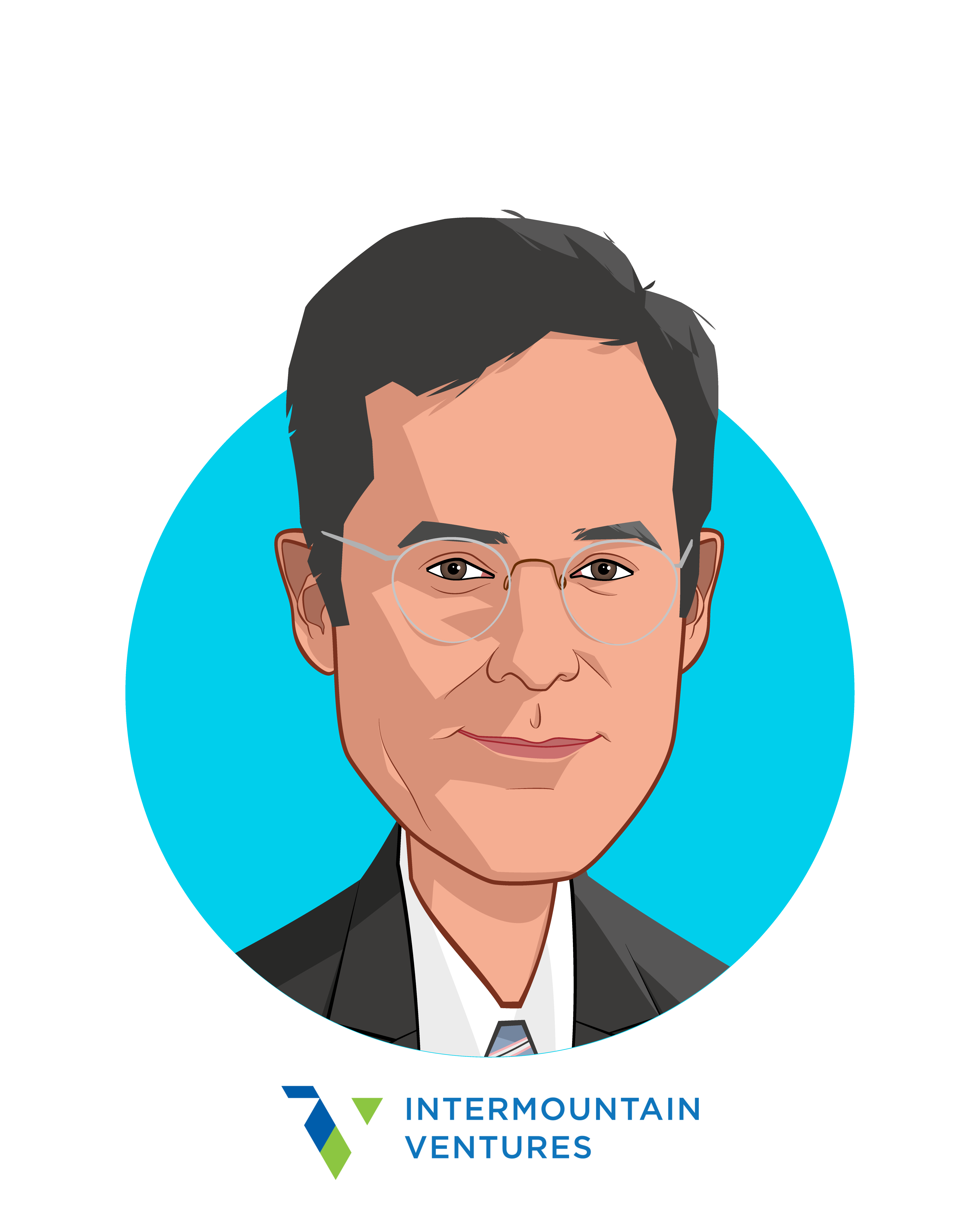 Main caricature of Mike Phillips, who is speaking at HLTH and is Ventures Partner and Director at Intermountain