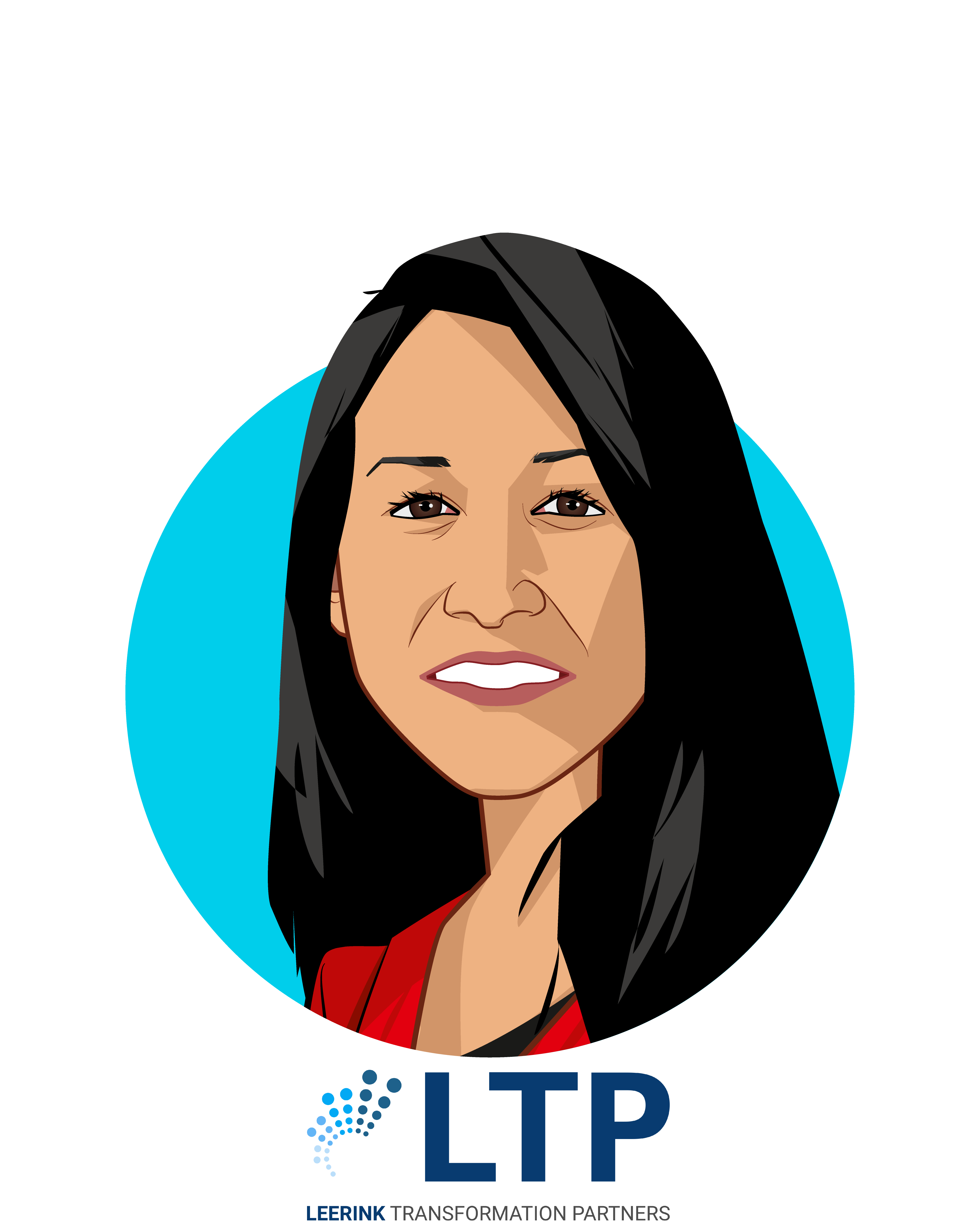 Main caricature of Sasha Khursheed Said, who is speaking at HLTH and is SVP of Revenue at LetsGetChecked at Advisor, Leerink Transformation Partners
