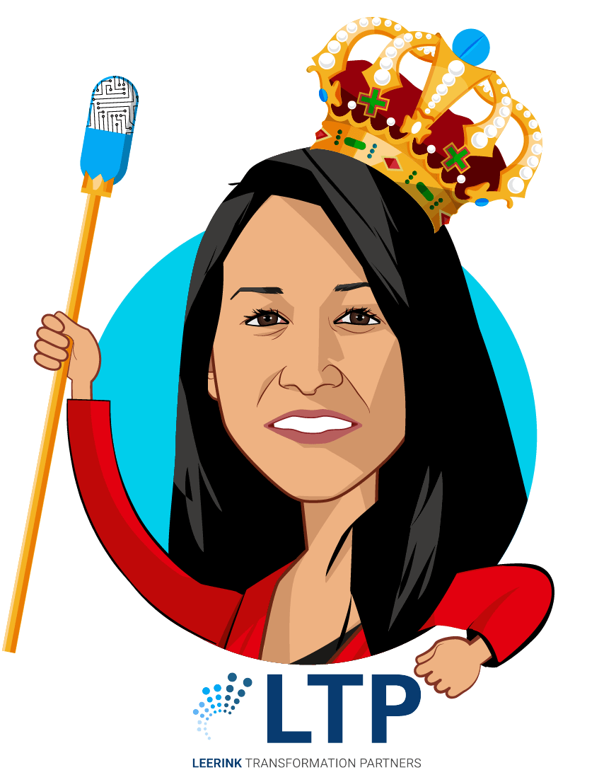 Overlay caricature of Sasha Khursheed Said, who is speaking at HLTH and is SVP of Revenue at LetsGetChecked at Advisor, Leerink Transformation Partners
