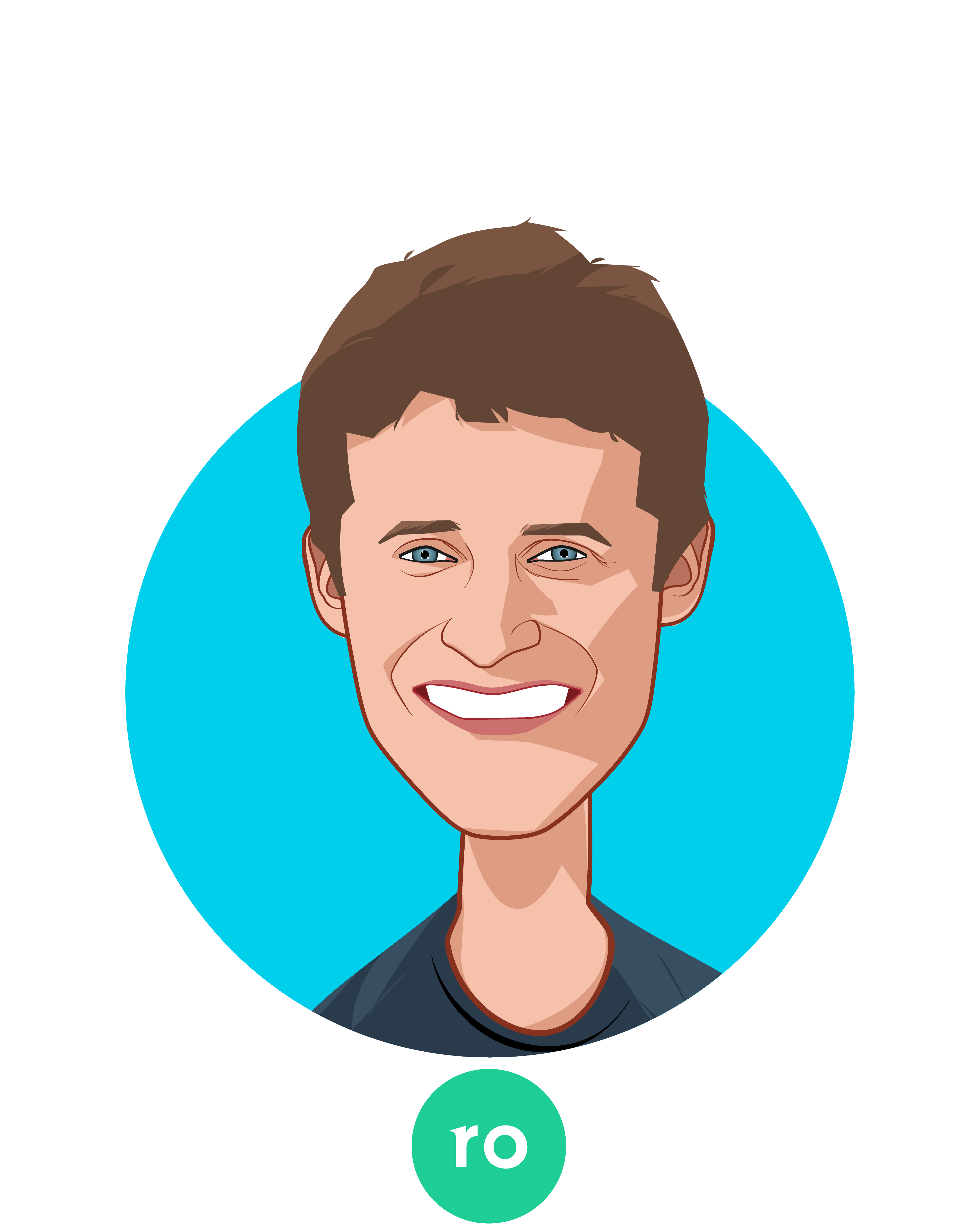 Main caricature of Zachariah Reitano, who is speaking at HLTH and is CEO and Co-Founder at Ro