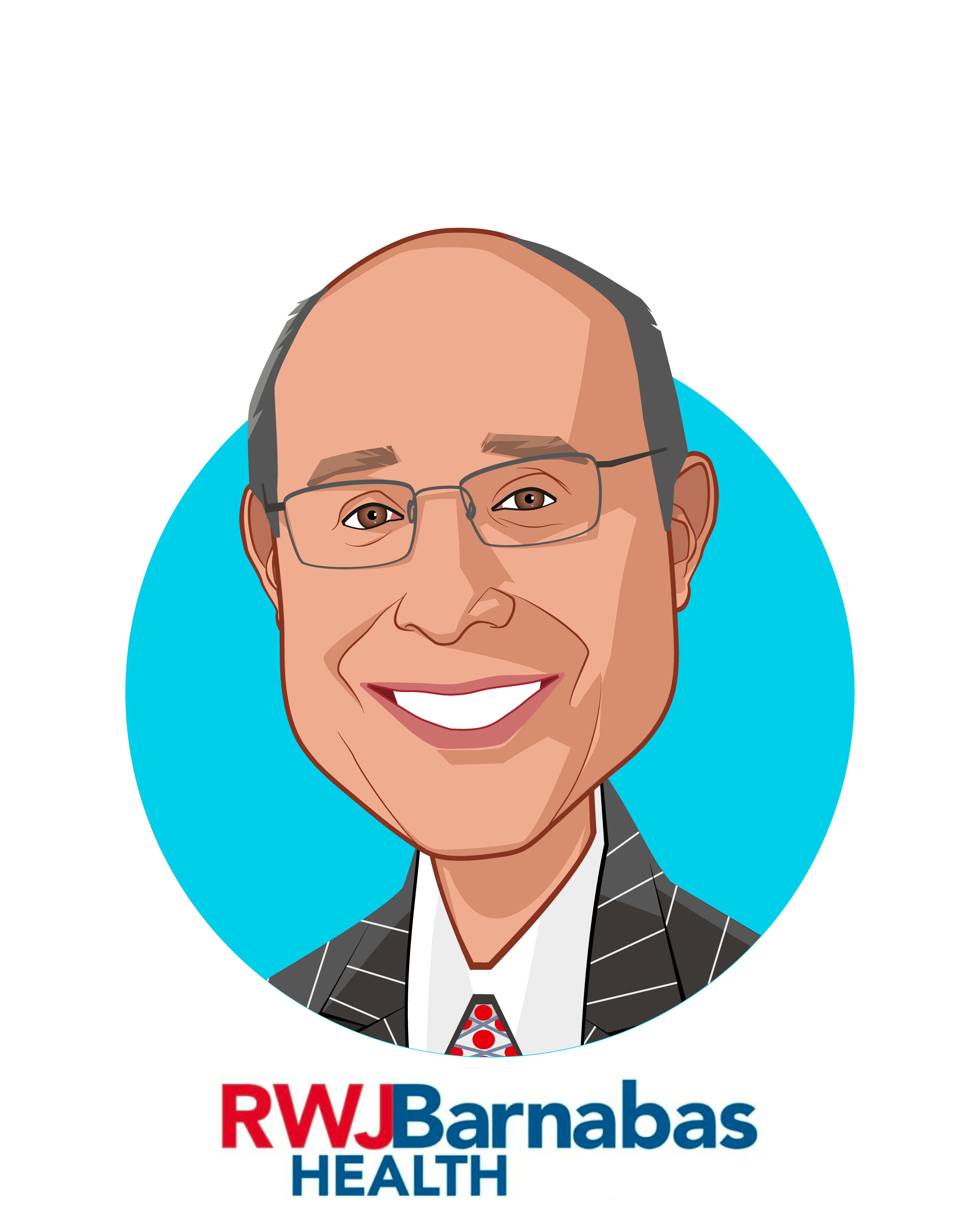 Main caricature of Barry H. Ostrowsky, who is speaking at HLTH and is President and Chief Executive Officer at RWJBarnabas Health
