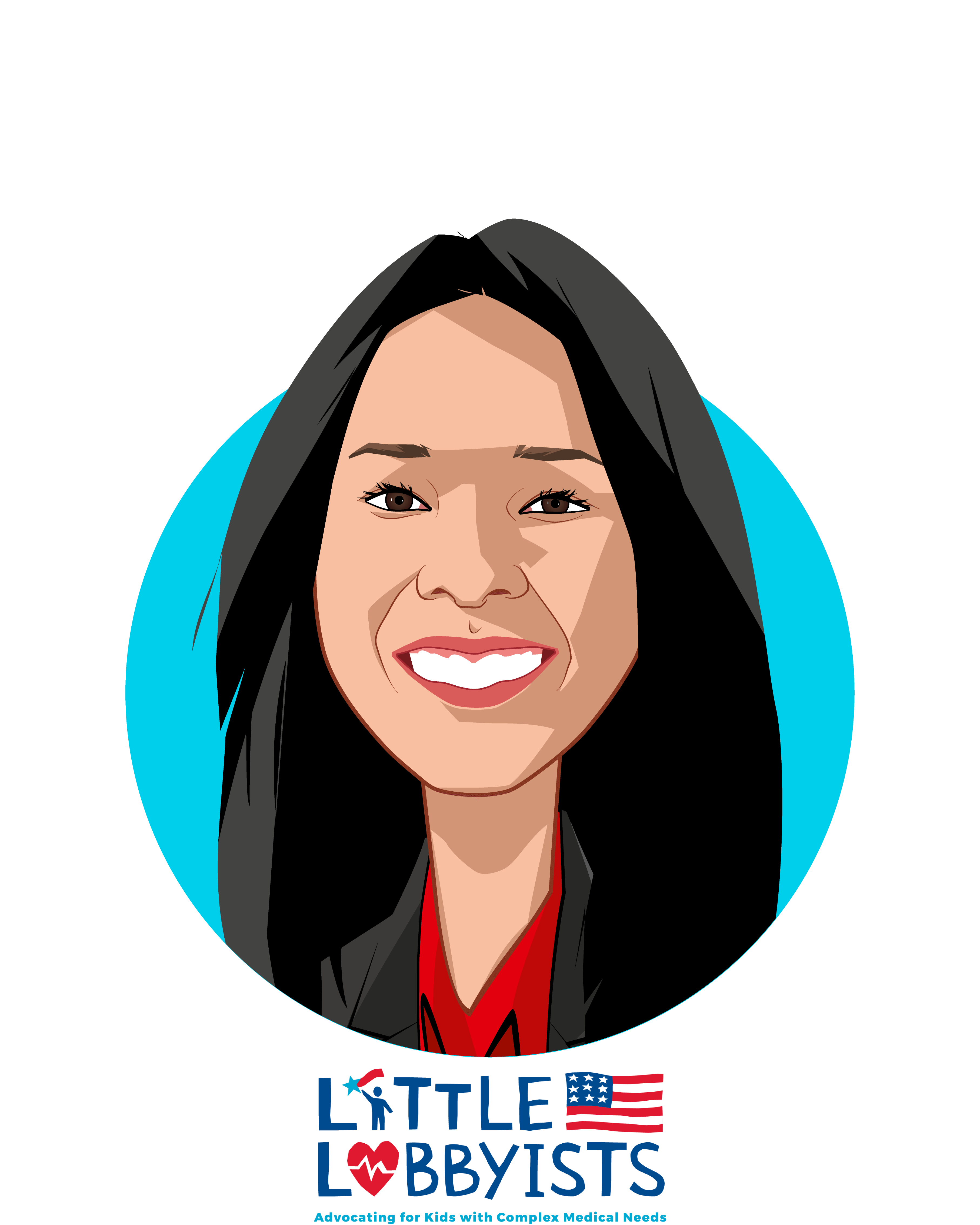 Main caricature of Elena Hung, who is speaking at HLTH and is Co-founder and President at Little Lobbyists