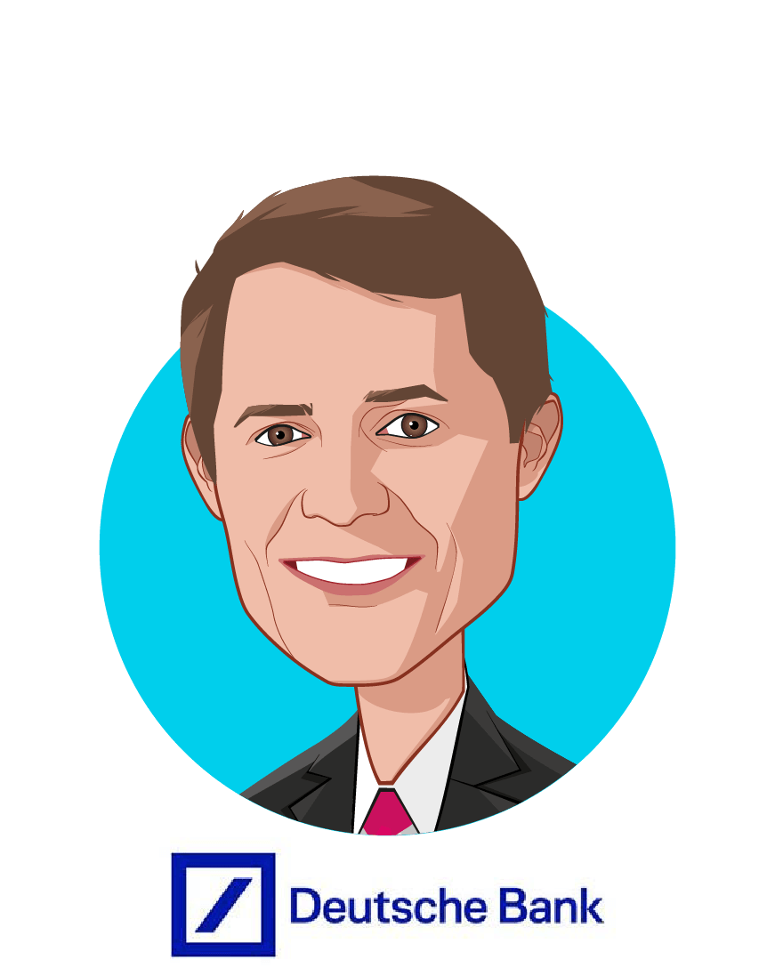 Main caricature of George Hill, who is speaking at HLTH and is Managing Director, Healthcare Technology & Services Equity Research  at Deutsche Bank Securities Inc.