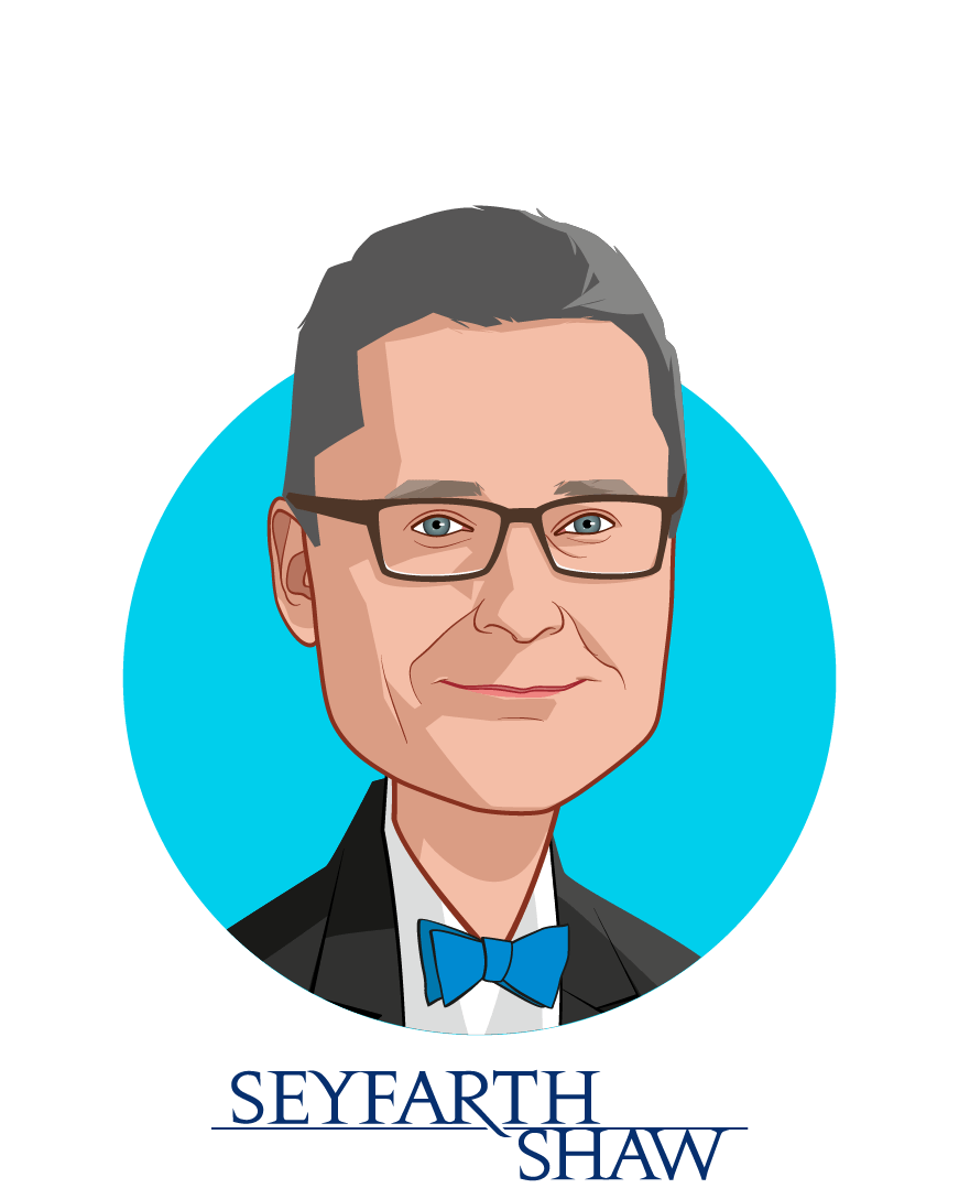 Main caricature of Mark Coffin, who is speaking at HLTH and is Partner at Seyfarth Shaw LLP