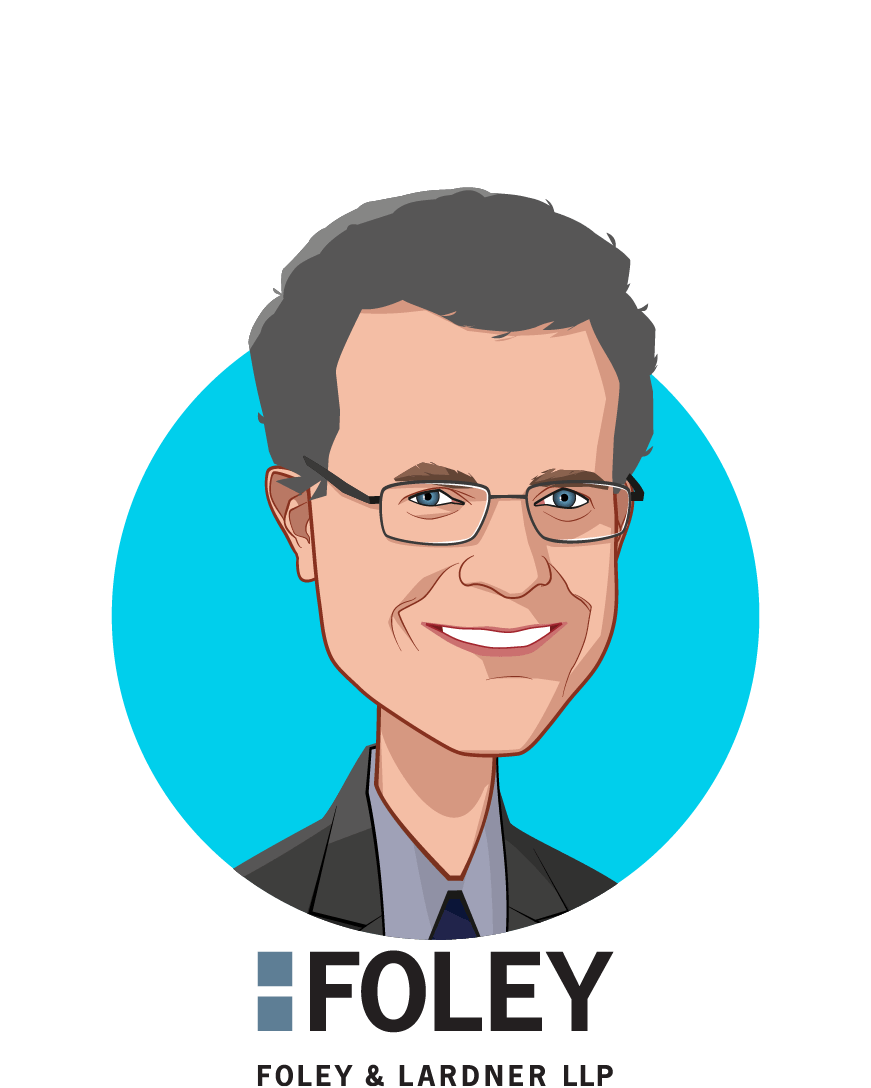 Main caricature of Christopher Donovan, who is speaking at HLTH and is Partner at Foley & Lardner LLP