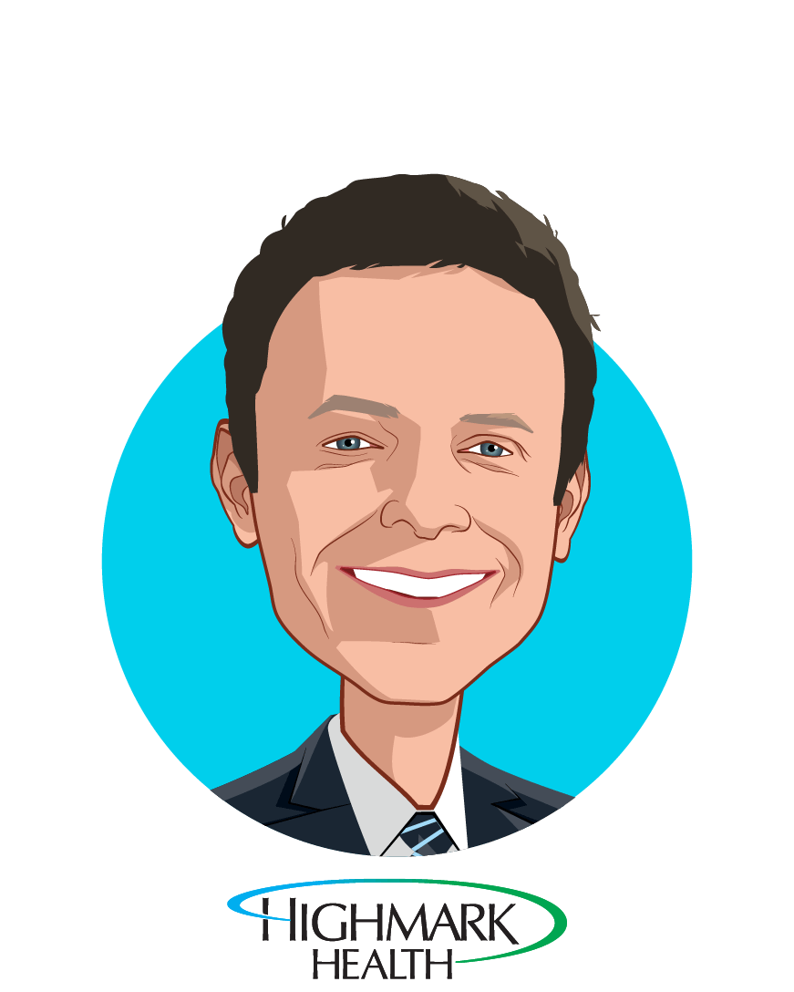 Main caricature of David L. Holmberg, who is speaking at HLTH and is President and Chief Executive Officer  at Highmark Health