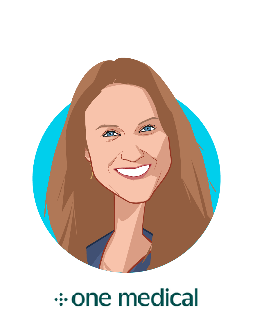 Main caricature of Kimber Lockhart, who is speaking at HLTH and is Chief Technology Officer at One Medical