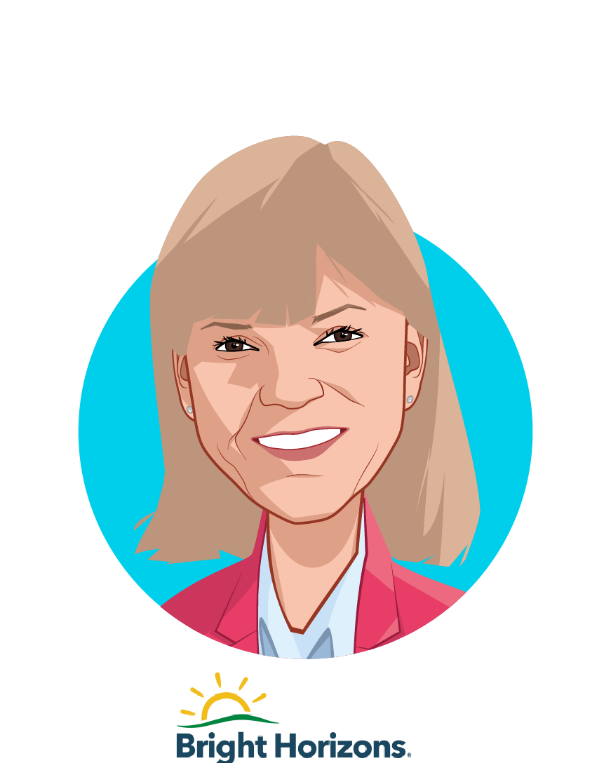Main caricature of Maribeth Bearfield, who is speaking at HLTH and is Chief Human Resources Officer  at Bright Horizons