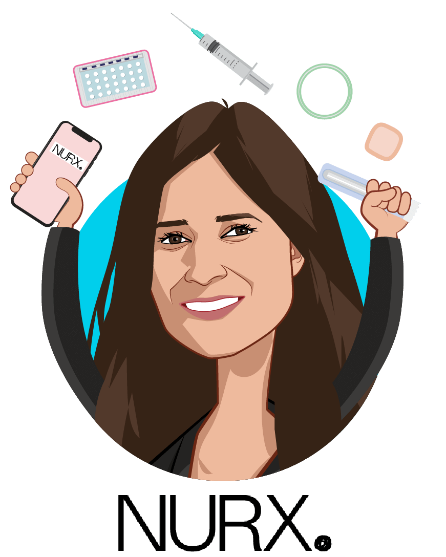 Overlay caricature of Varsha Rao, who is speaking at HLTH and is CEO at Nurx