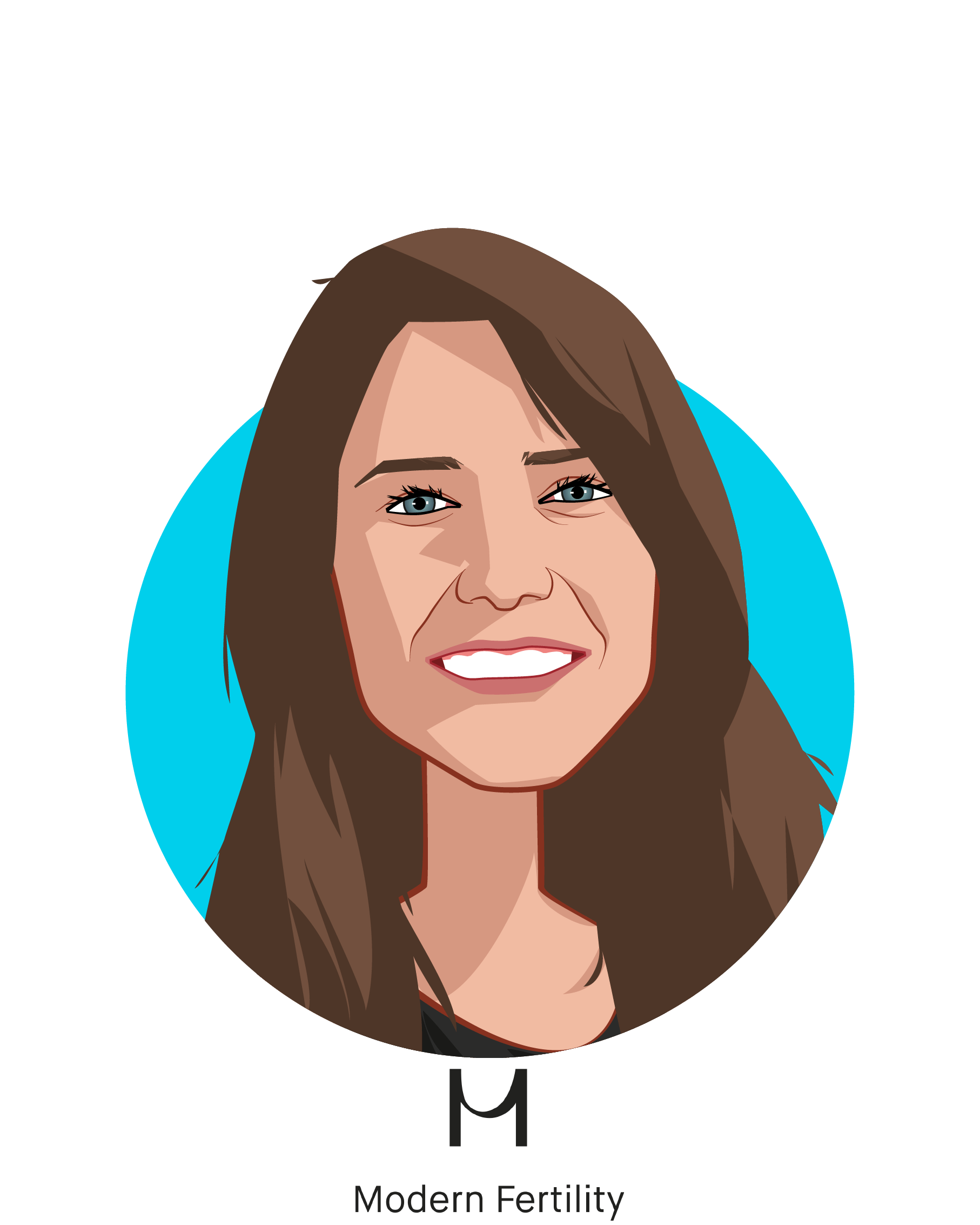 Main caricature of Afton Vechery, who is speaking at HLTH and is CEO and Co-founder at Modern Fertility