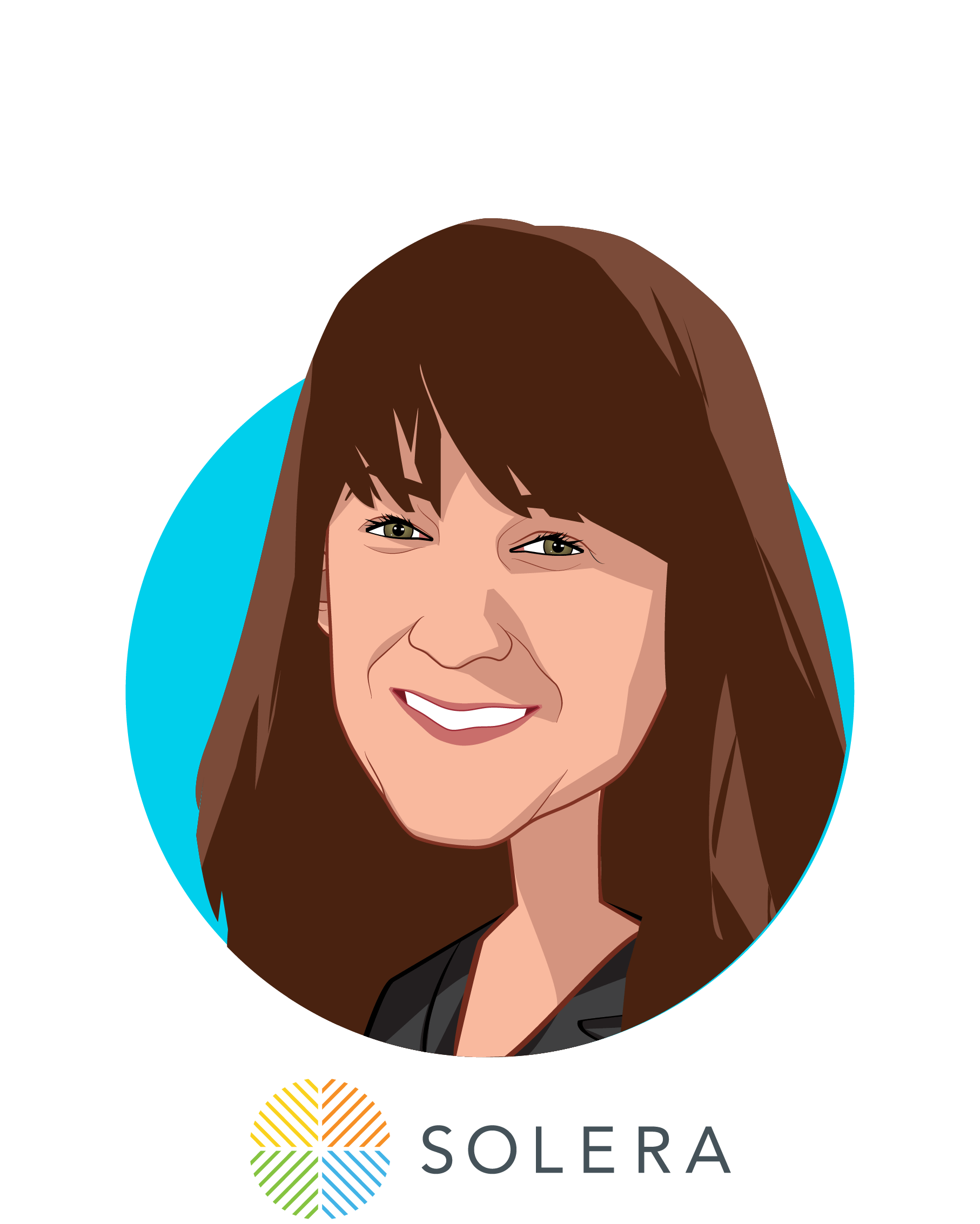 Main caricature of Brenda Schmidt, who is speaking at HLTH and is Founder and CEO at Solera Health