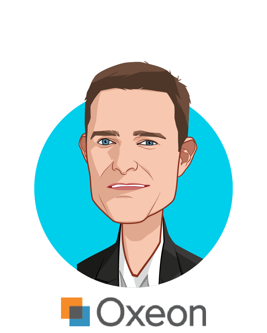 Main caricature of David Whelan, who is speaking at HLTH and is Managing General Partner at Oxeon Venture Studio