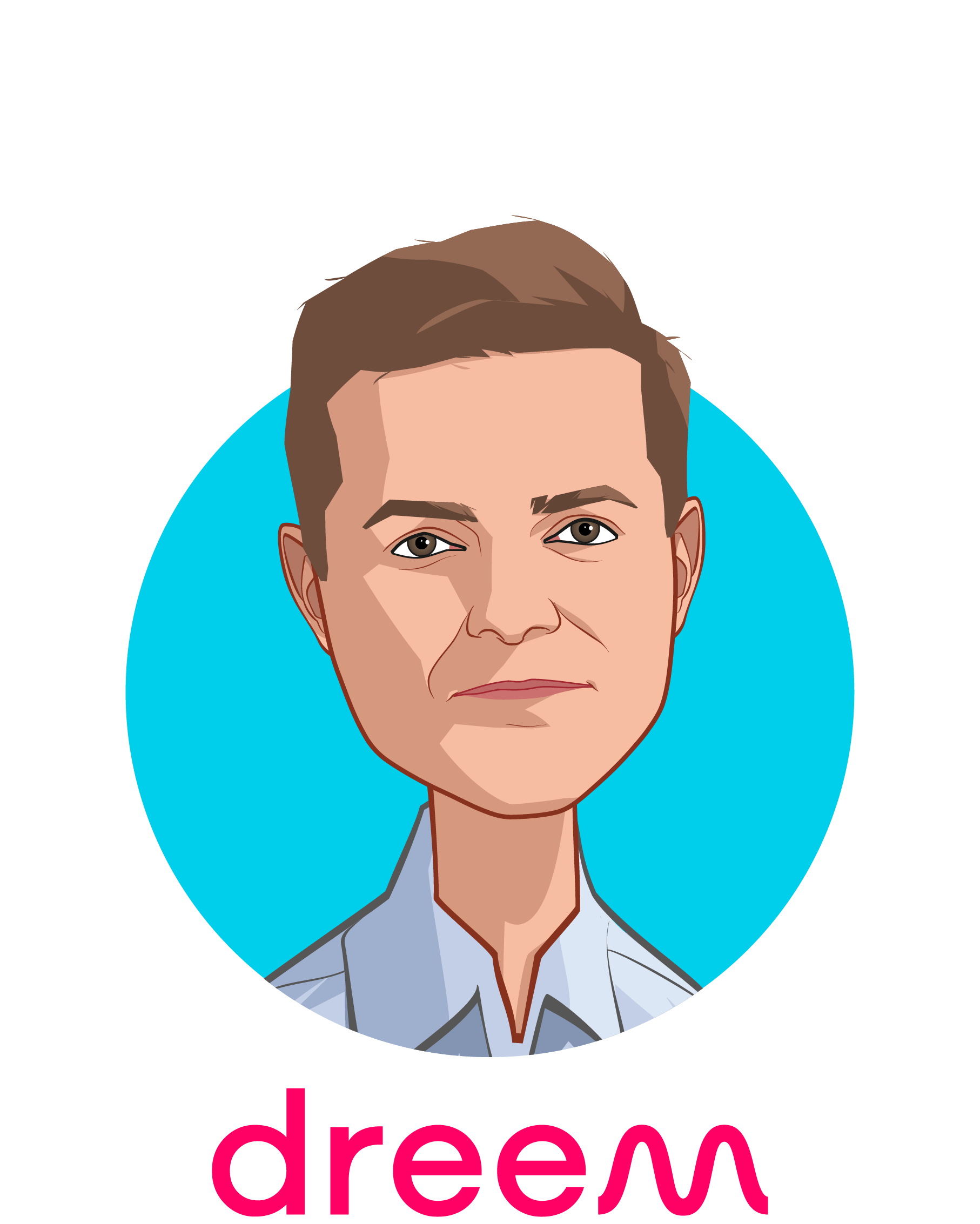 Main caricature of Hugo Mercier, who is speaking at HLTH and is CEO & Co-founder at Dreem