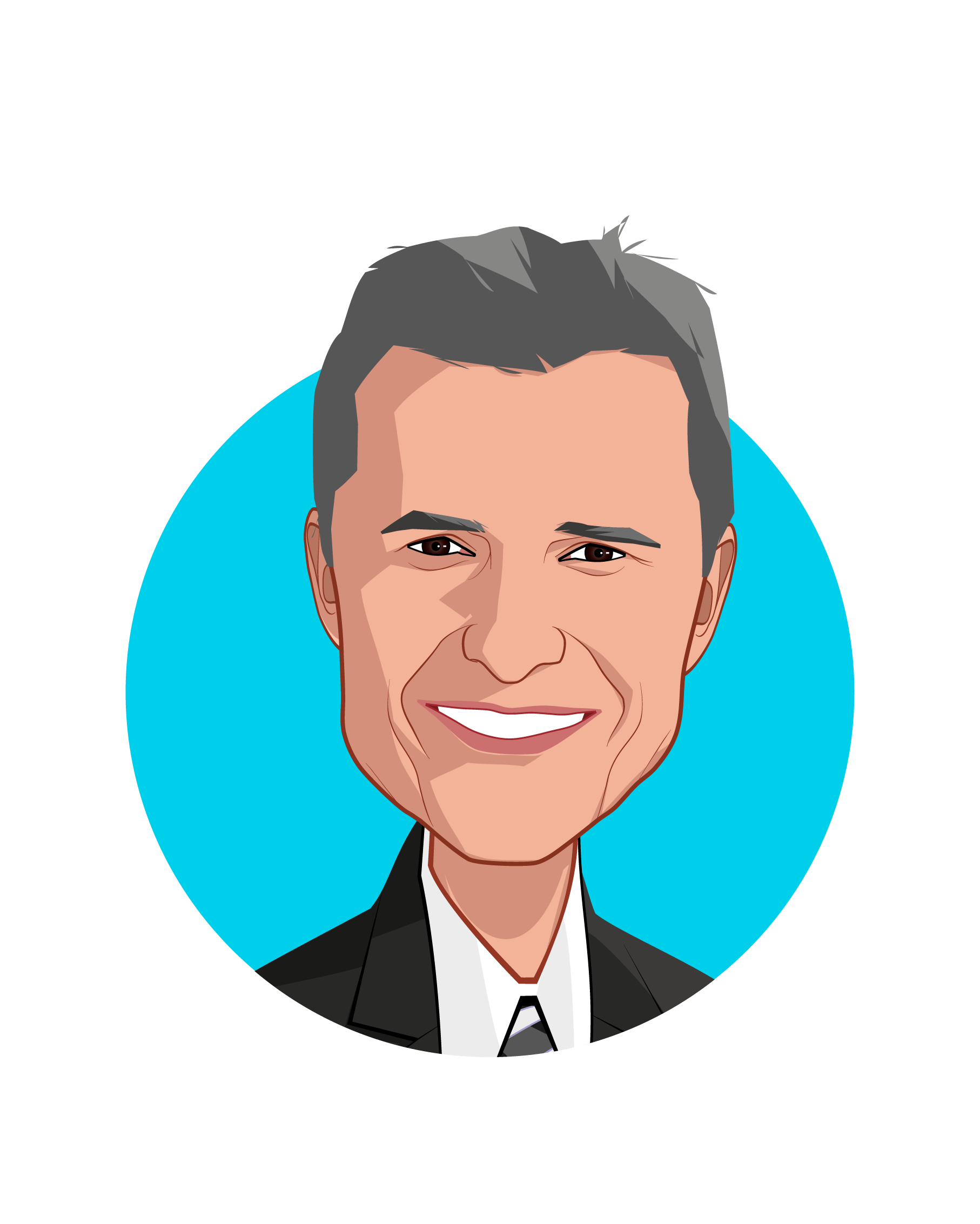 Main caricature of John Bardis, who is speaking at HLTH and is CEO at JB Health Solutions