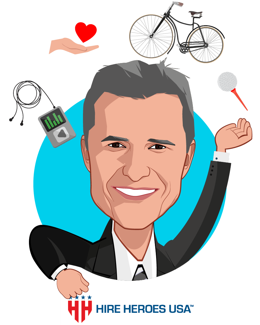 Overlay caricature of John Bardis, who is speaking at HLTH and is CEO at JB Health Solutions