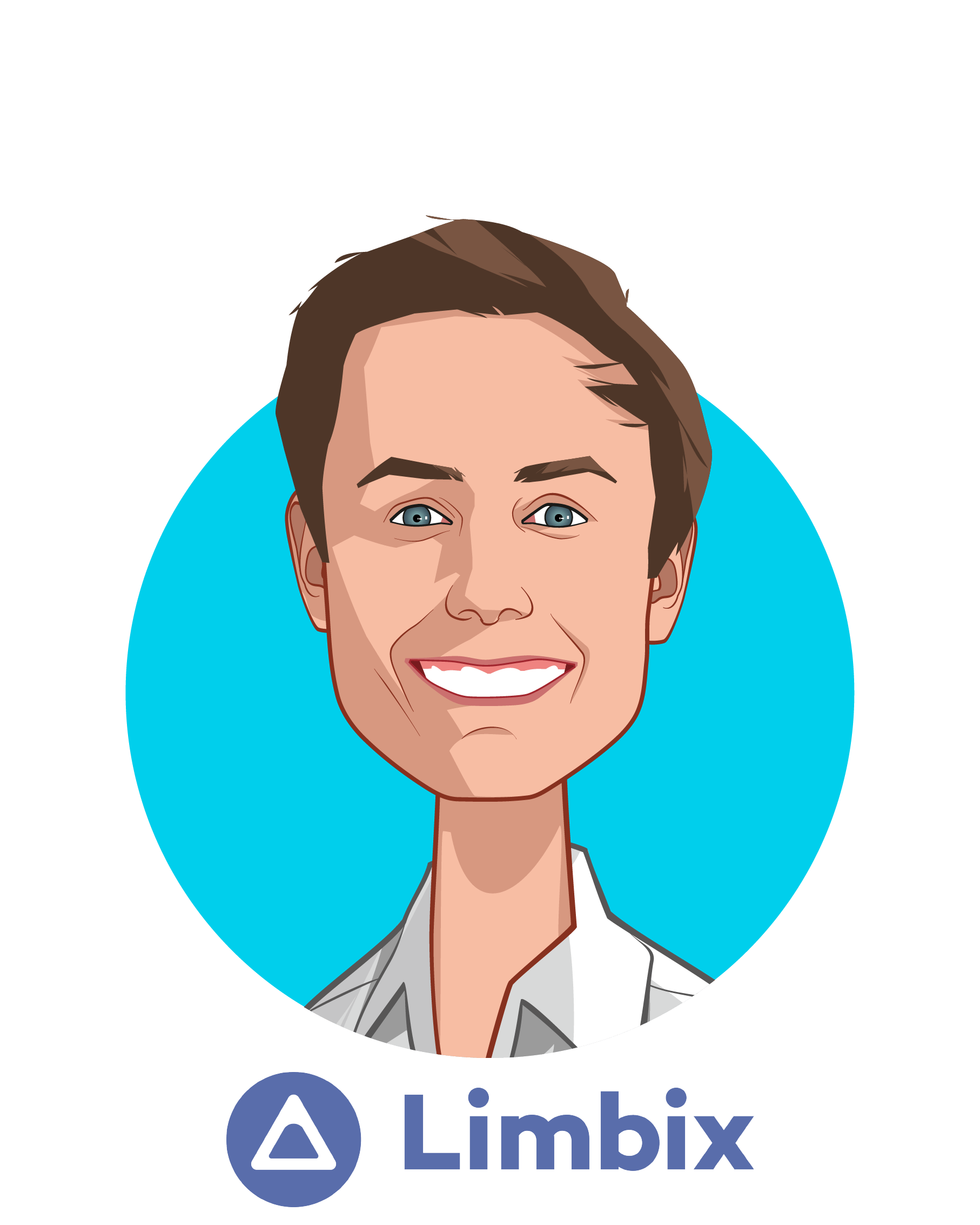 Main caricature of Jon Sockell, who is speaking at HLTH and is Co-founder & COO at Limbix