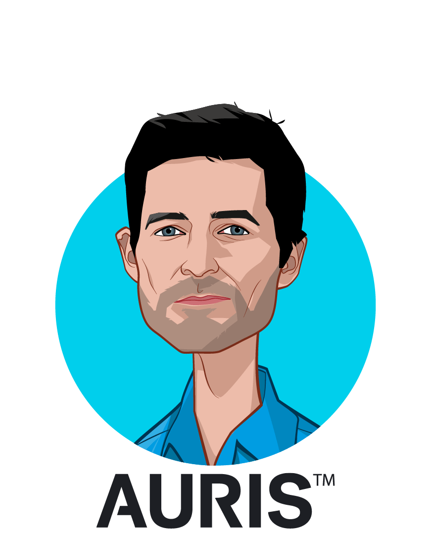 Main caricature of Josh DeFonzo, who is speaking at HLTH and is Chief Operating Officer at Auris Health, Inc.