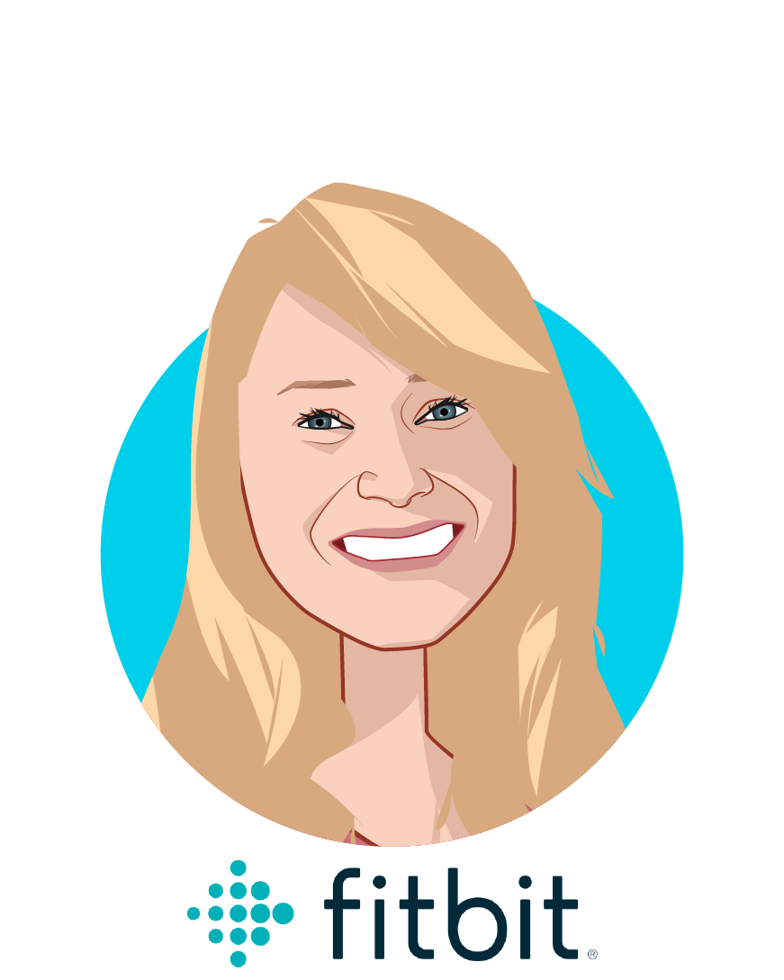 Main caricature of Amy McDonough , who is speaking at HLTH and is SVP and General Manager at Fitbit Health Solutions