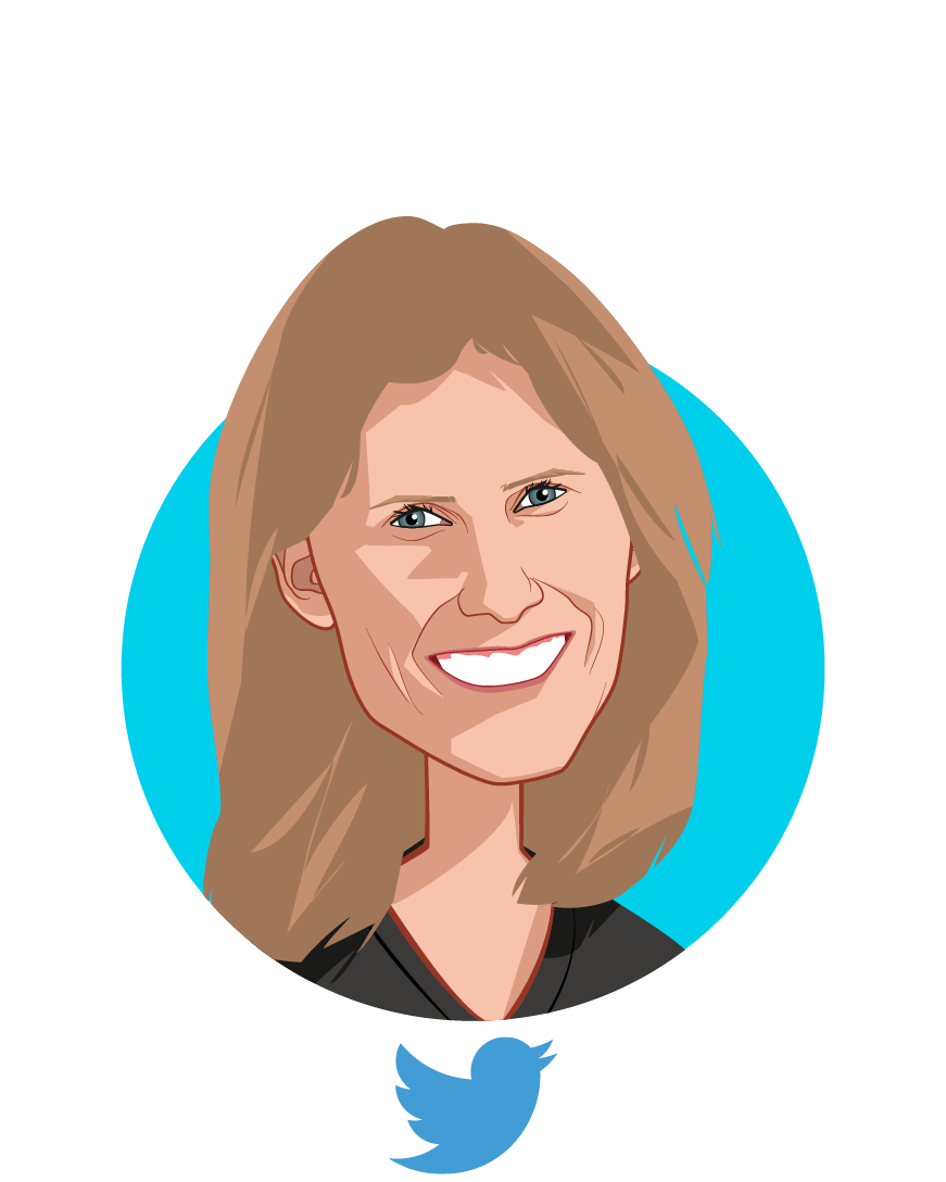 Main caricature of Lisa Bookwalter, who is speaking at HLTH and is Director, Twitter Client Solutions, Health at Twitter