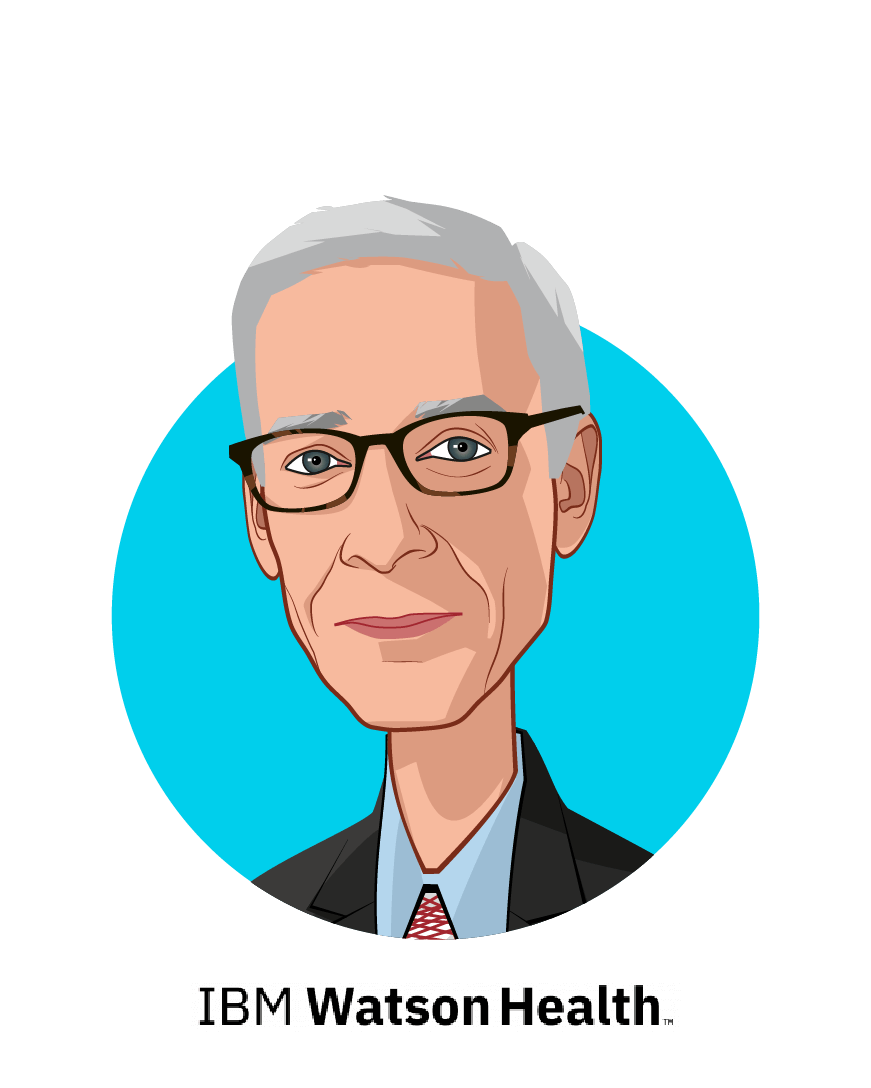 Main caricature of Dr. Nathan Levitan, MD, MBA, who is speaking at HLTH and is Chief Medical Officer, IBM Watson Health Oncology & Genomics at IBM