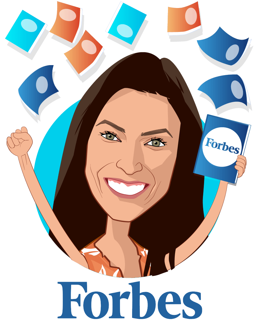 Overlay caricature of Nicole Fisher , who is speaking at HLTH and is Global Health, Technology and Policy Contributor at Forbes